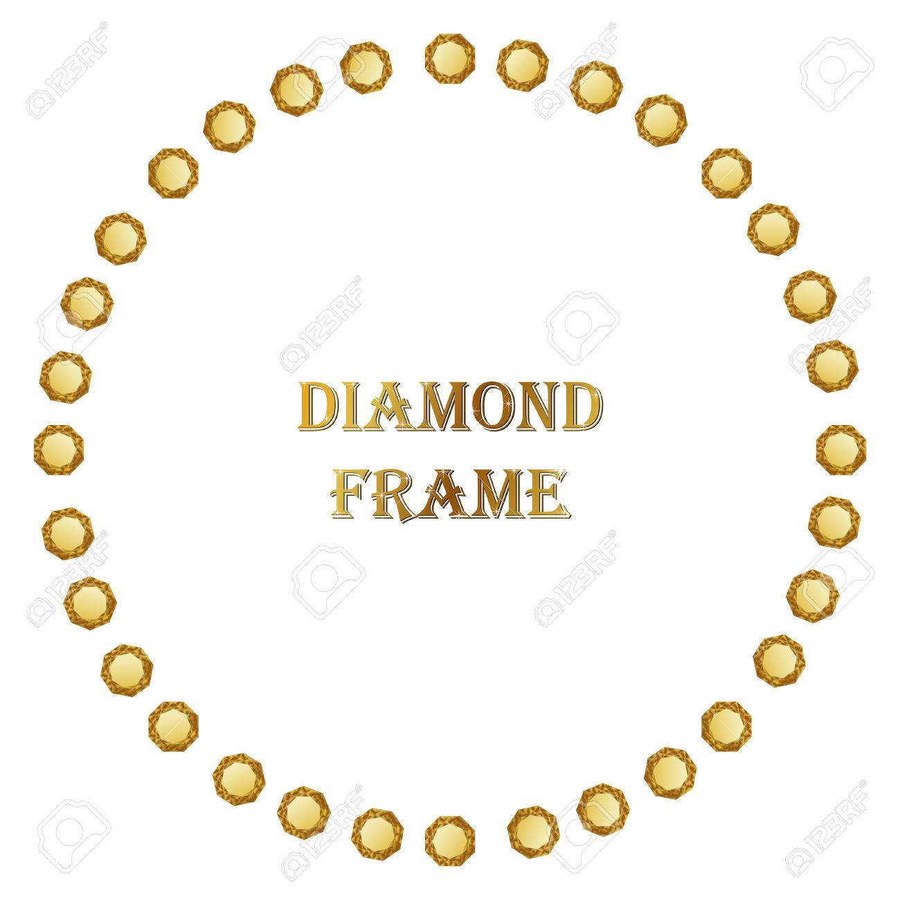 Diamanten Runden Rahmen. Vektor-Illustration Schmuck ...