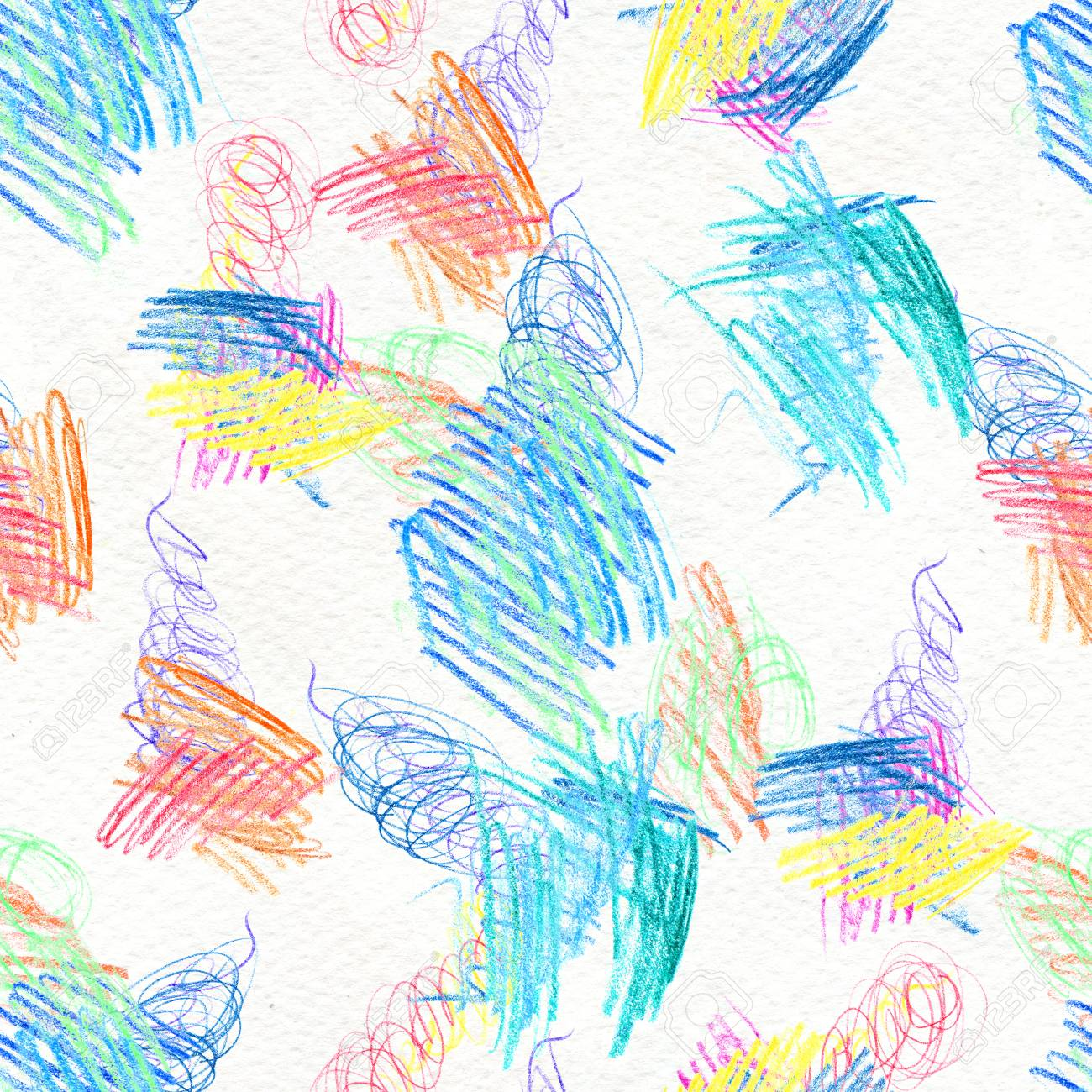 Abstract Seamless Scribble Background Fantasy Modern Colorful