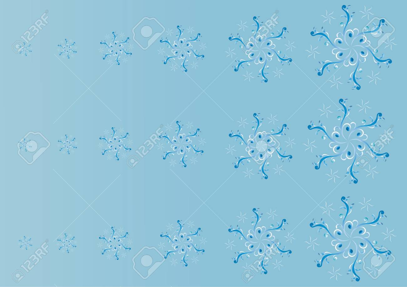 Snowflakes on blue background Stock Vector - 17547324