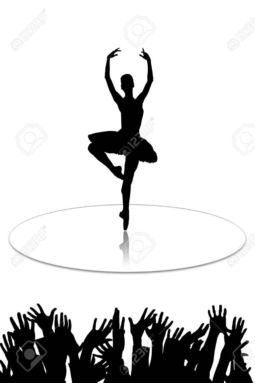 The ballerina who dances on mirror to a floor Stock Photo - 5760014