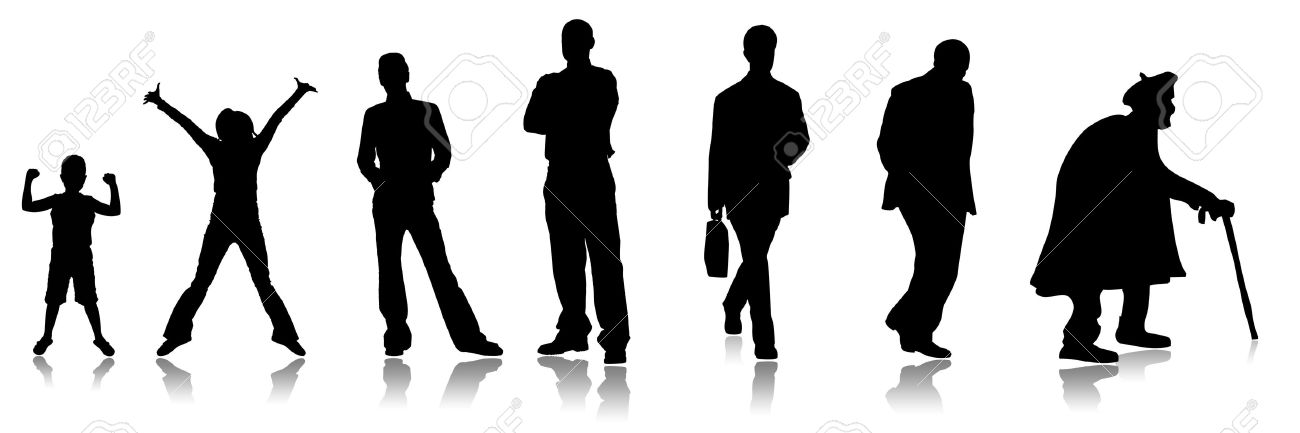 Stages of a growing of the person, from the child to the adult Stock Photo - 5782836