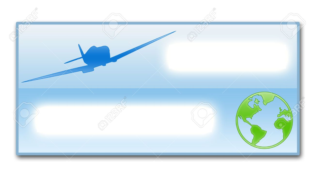 Illustration Of The Empty Ticket As Template For Filling – Airline Ticket Template Free