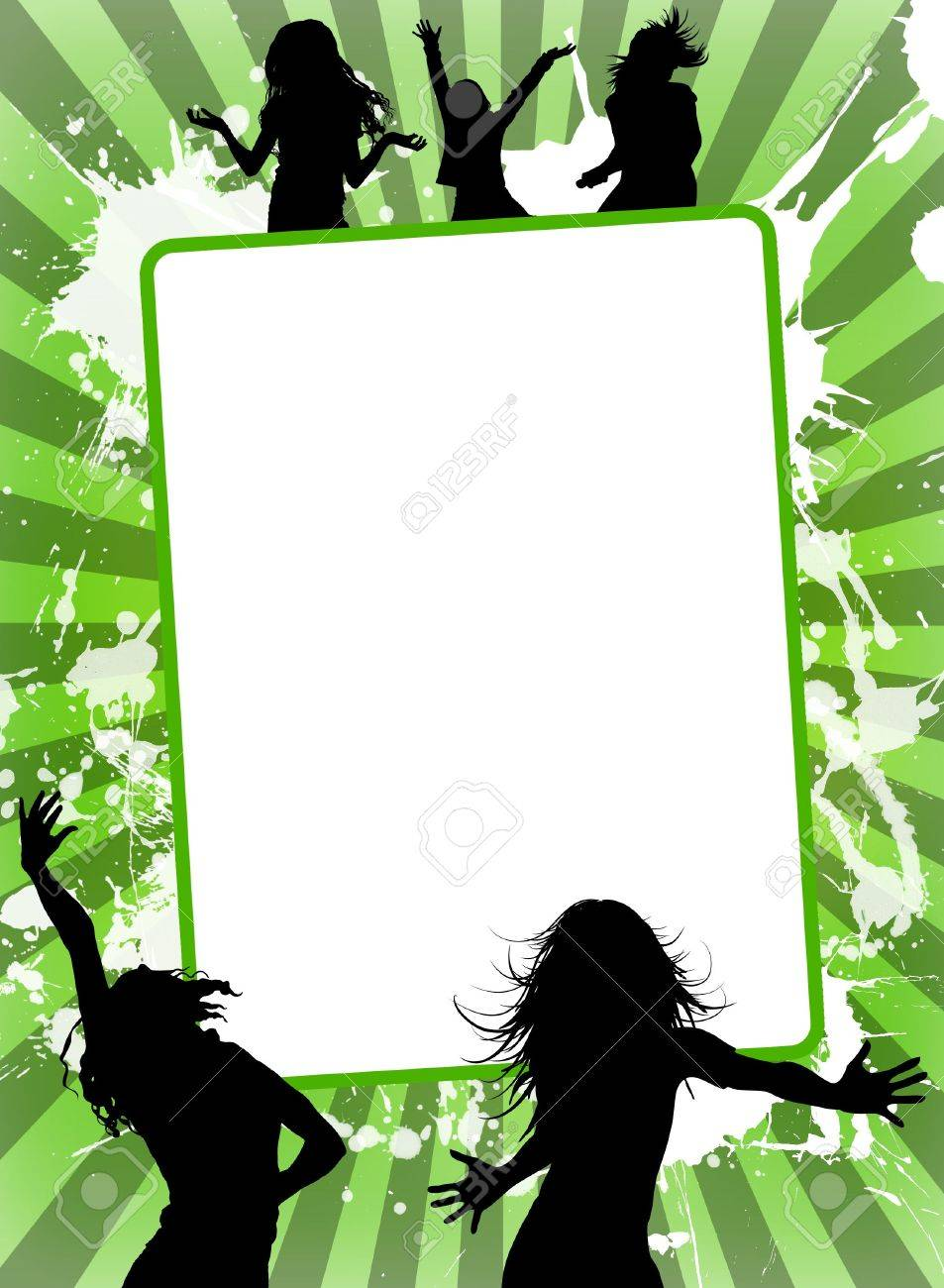 Illustration of empty advertising sheet, on a colourful background Stock Photo - 5875073