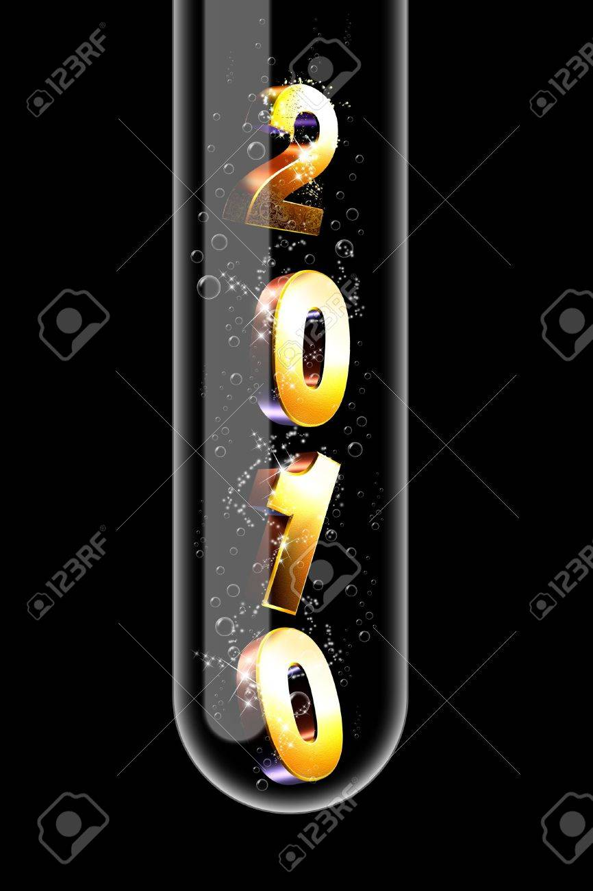 Illustration of a glass test tube with numbers inside it Stock Illustration - 5978742