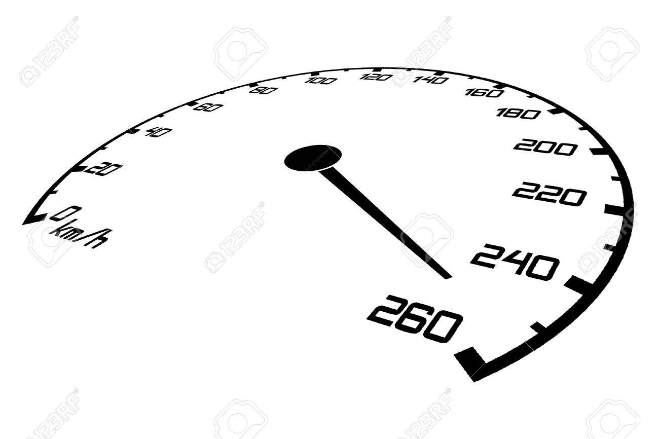 Speedometer with an arrow which goes on a maximum of speed Stock Photo - 5999476
