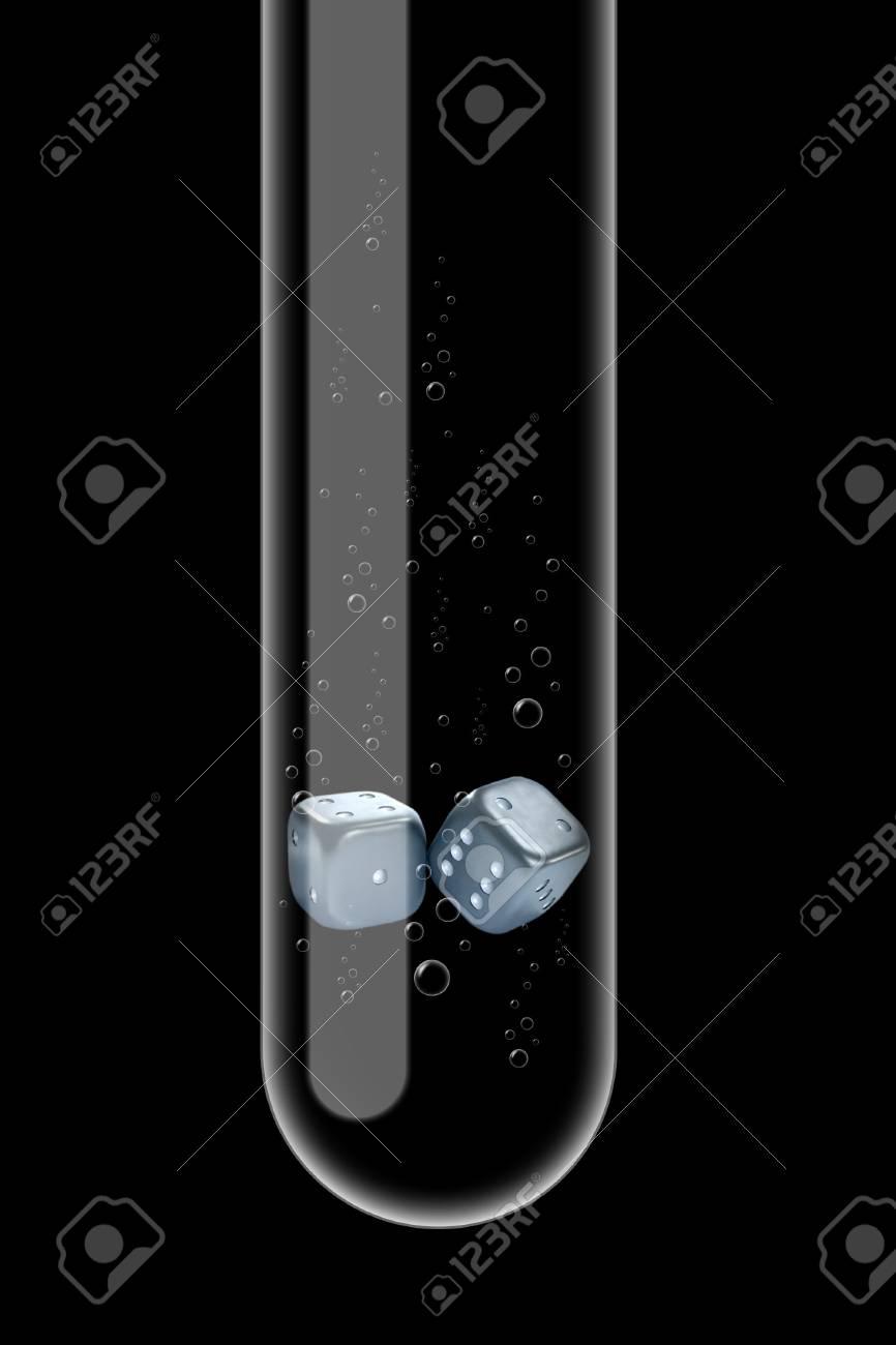 Illustration of a glass test tube with bones inside it Stock Illustration - 6048009