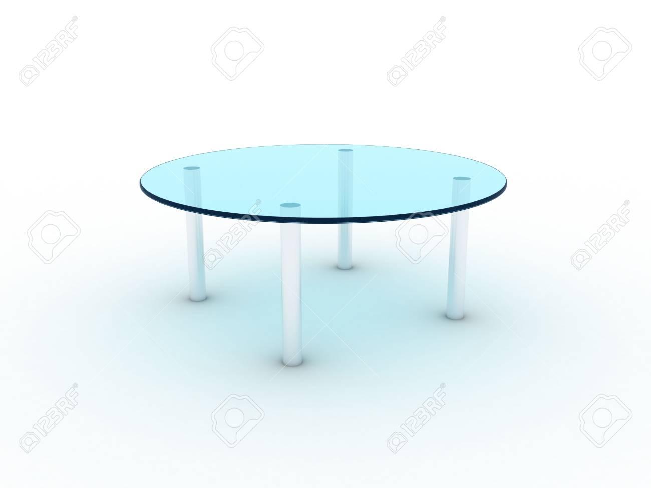 Illustration of a glass table on metal legs Stock Illustration - 7301366