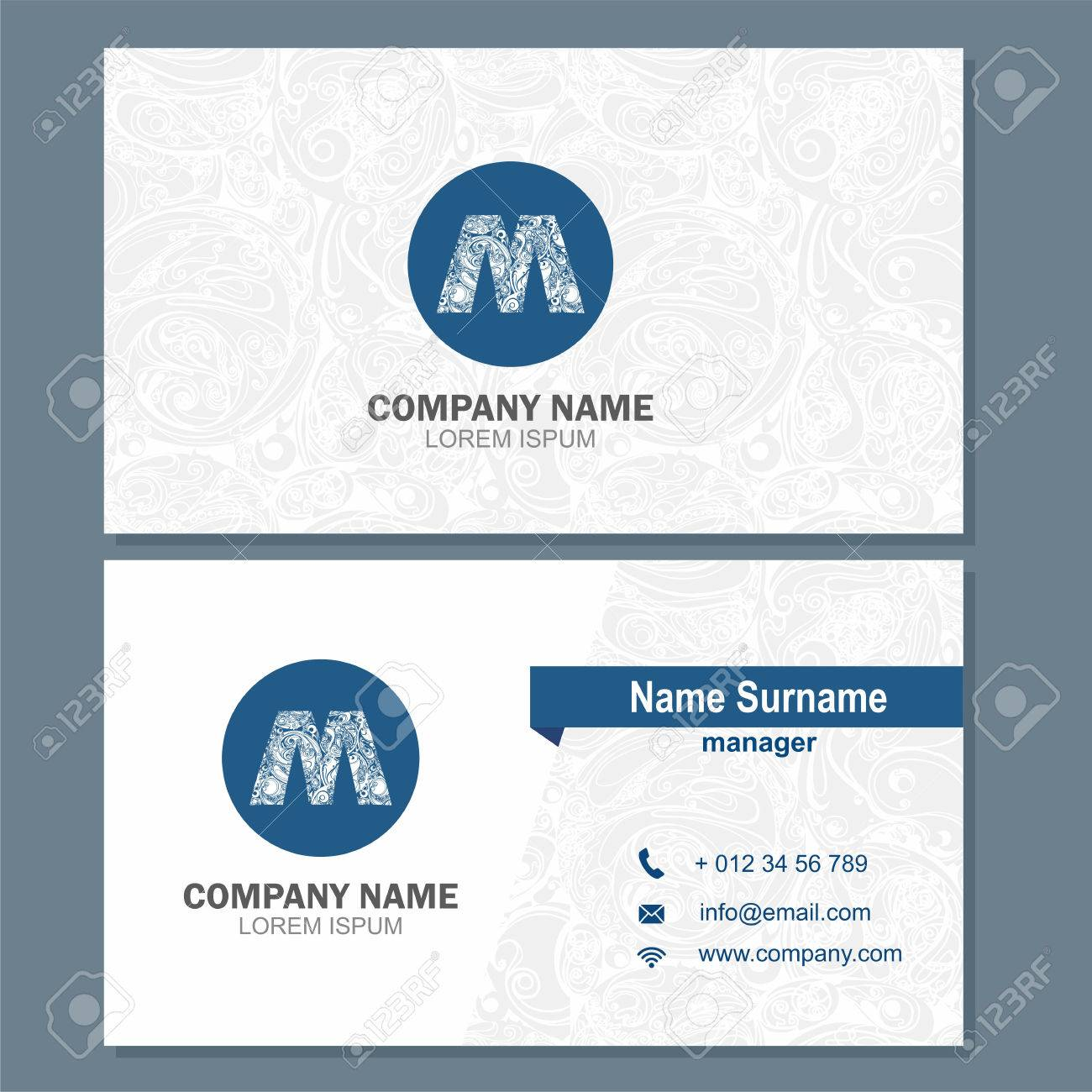 Business Card Or Visiting Card Template With Element Letter A ...