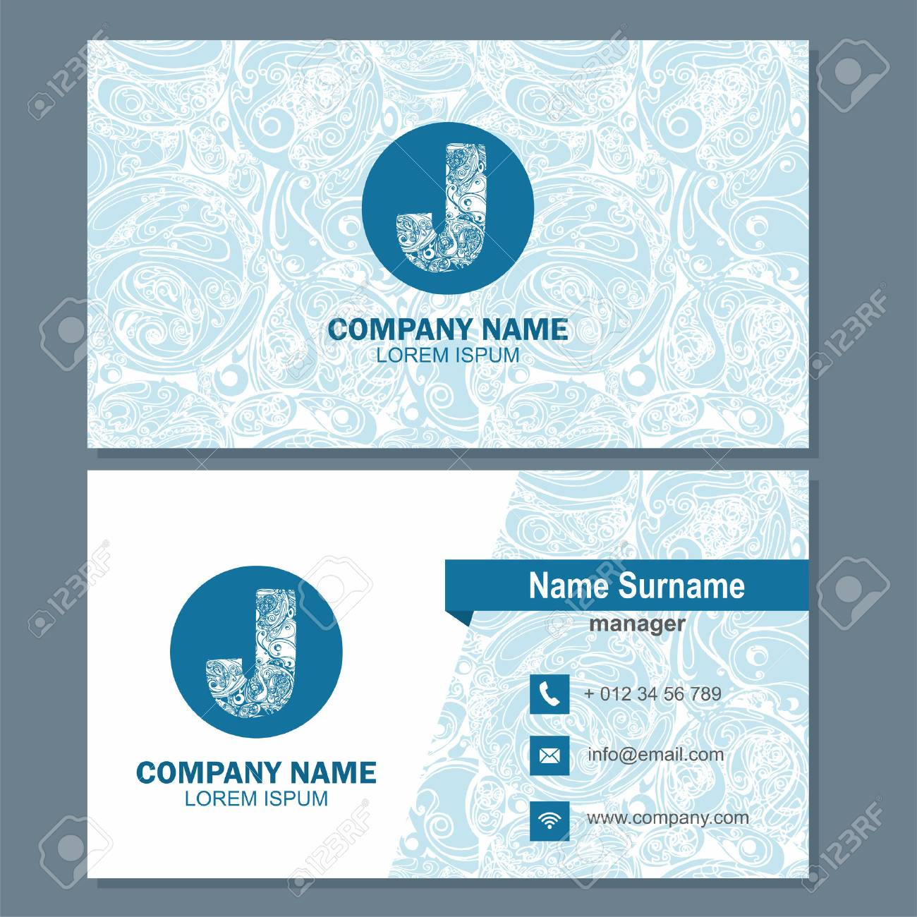 Business Card Or Visiting Template With Element Letter A Multicolor Vector Design Editable Stock