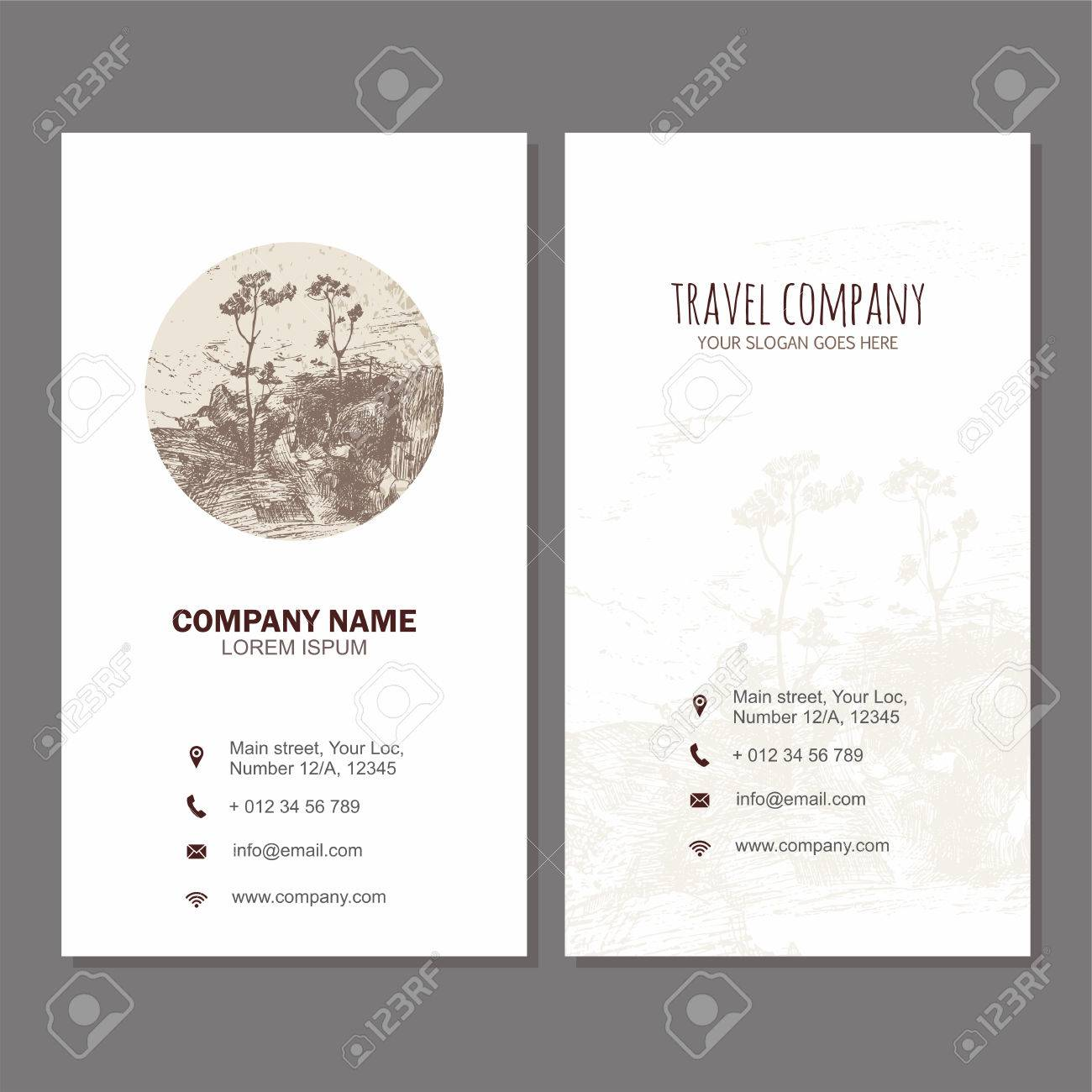 Business Card Or Visiting Card Design Template Vector Flyer