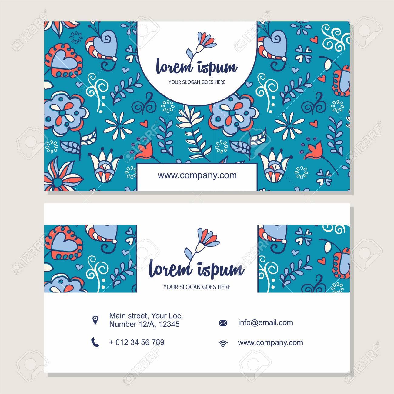 Carte De Visite Ou Mis La Main Mignon Logo Dessin