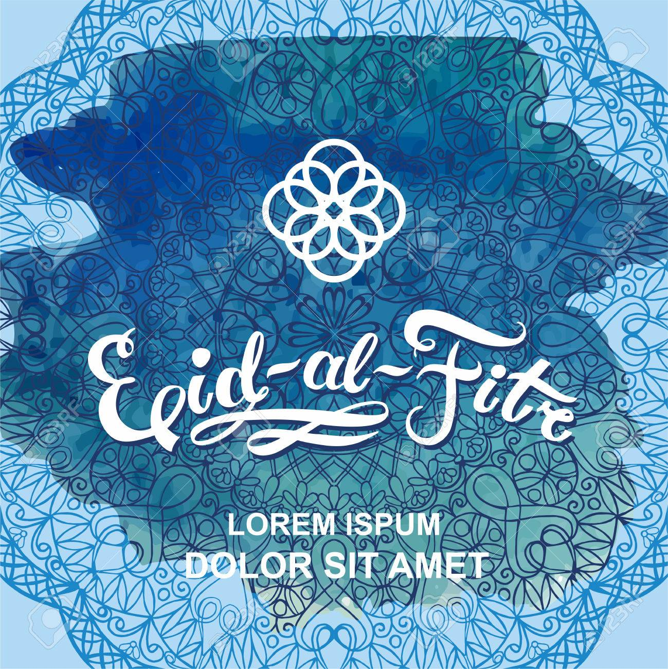 Eid Al Fitr Invitation Card Business Card With Mandala Design Element Ramadan Graphic Background Abstract Oriental Design Layout