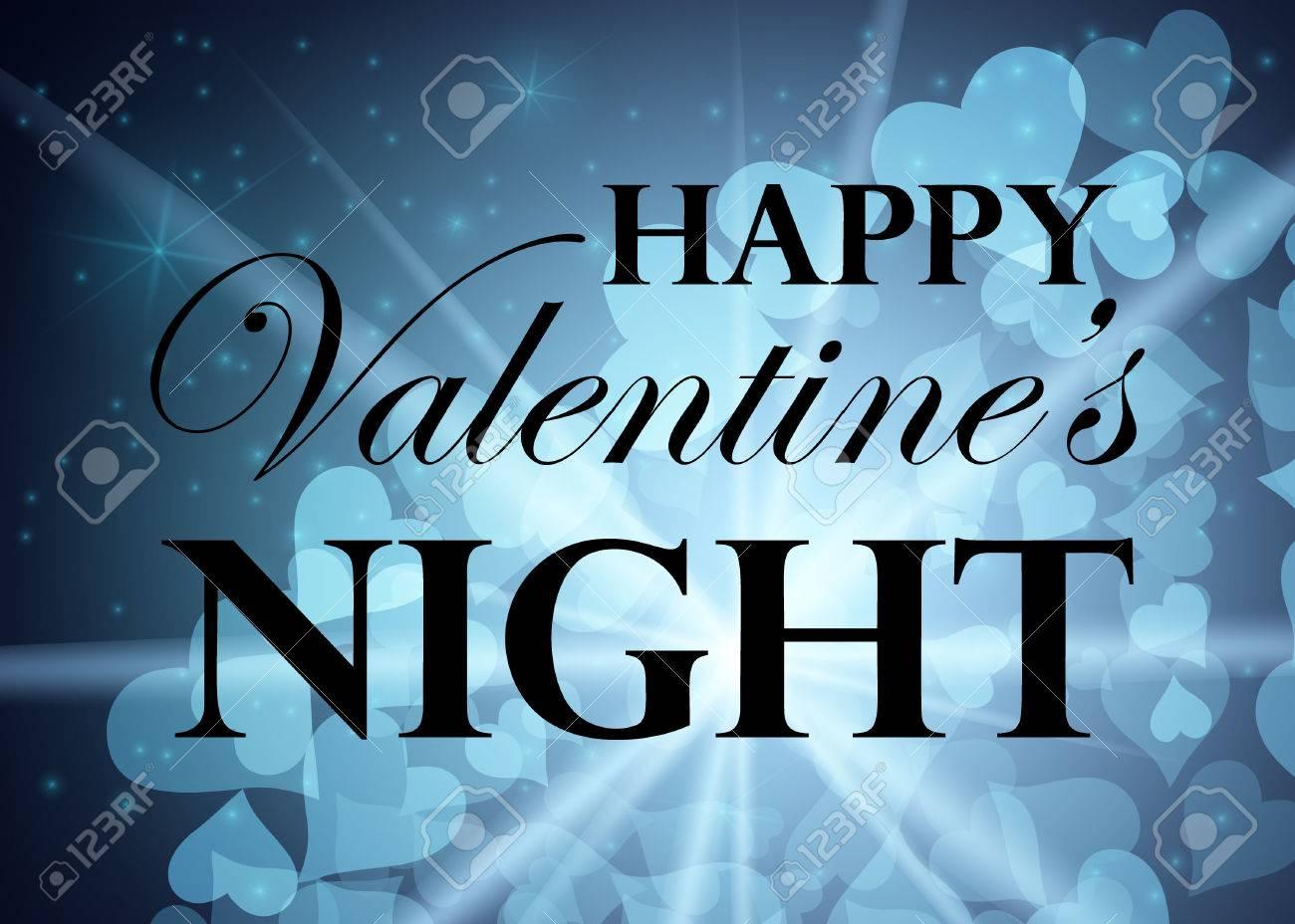 Joyeux Anniversaire De La Saint Valentin Nightsky Avec Des Etoiles