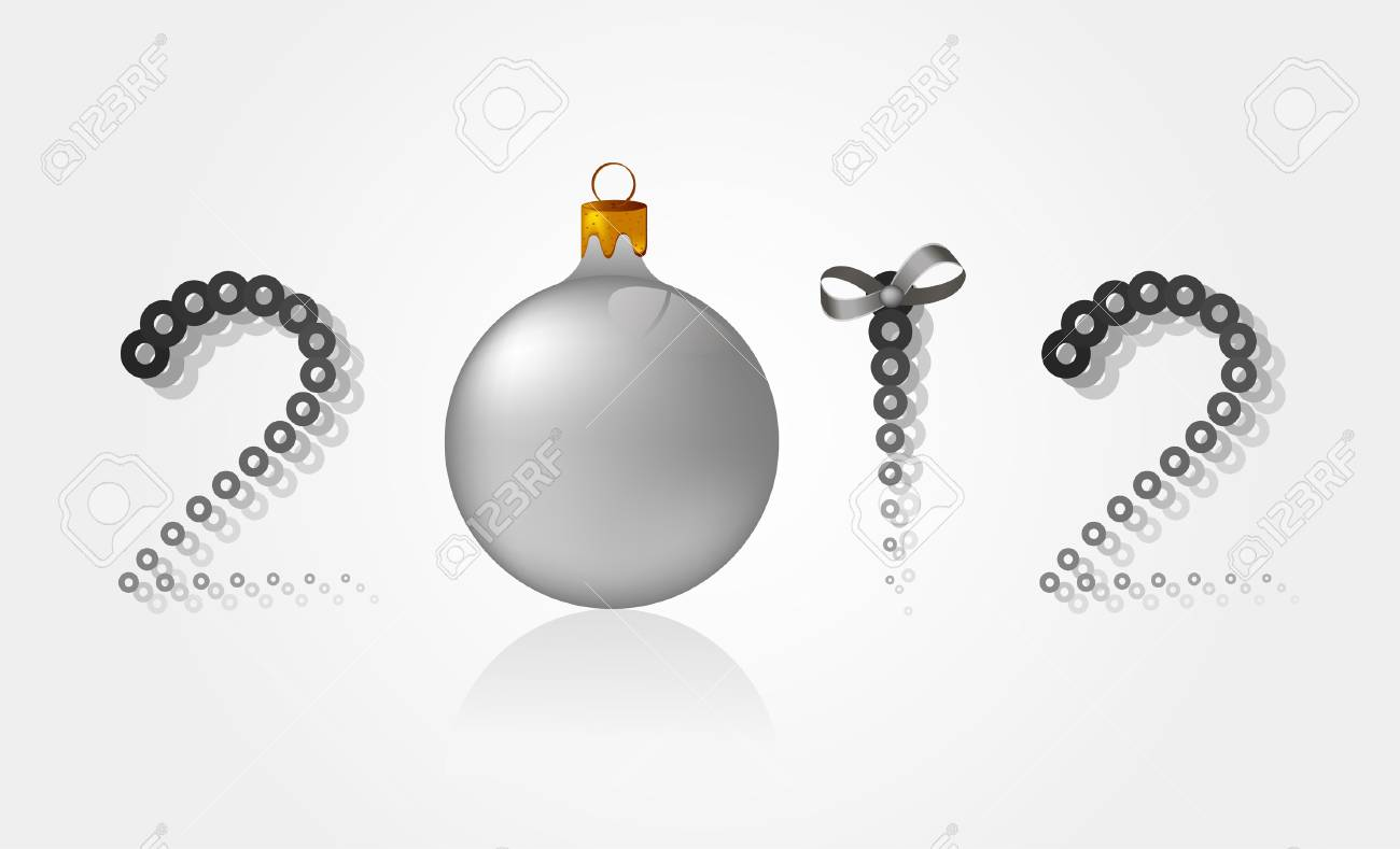 Background for the new 2012 with a toy Stock Vector - 11658479