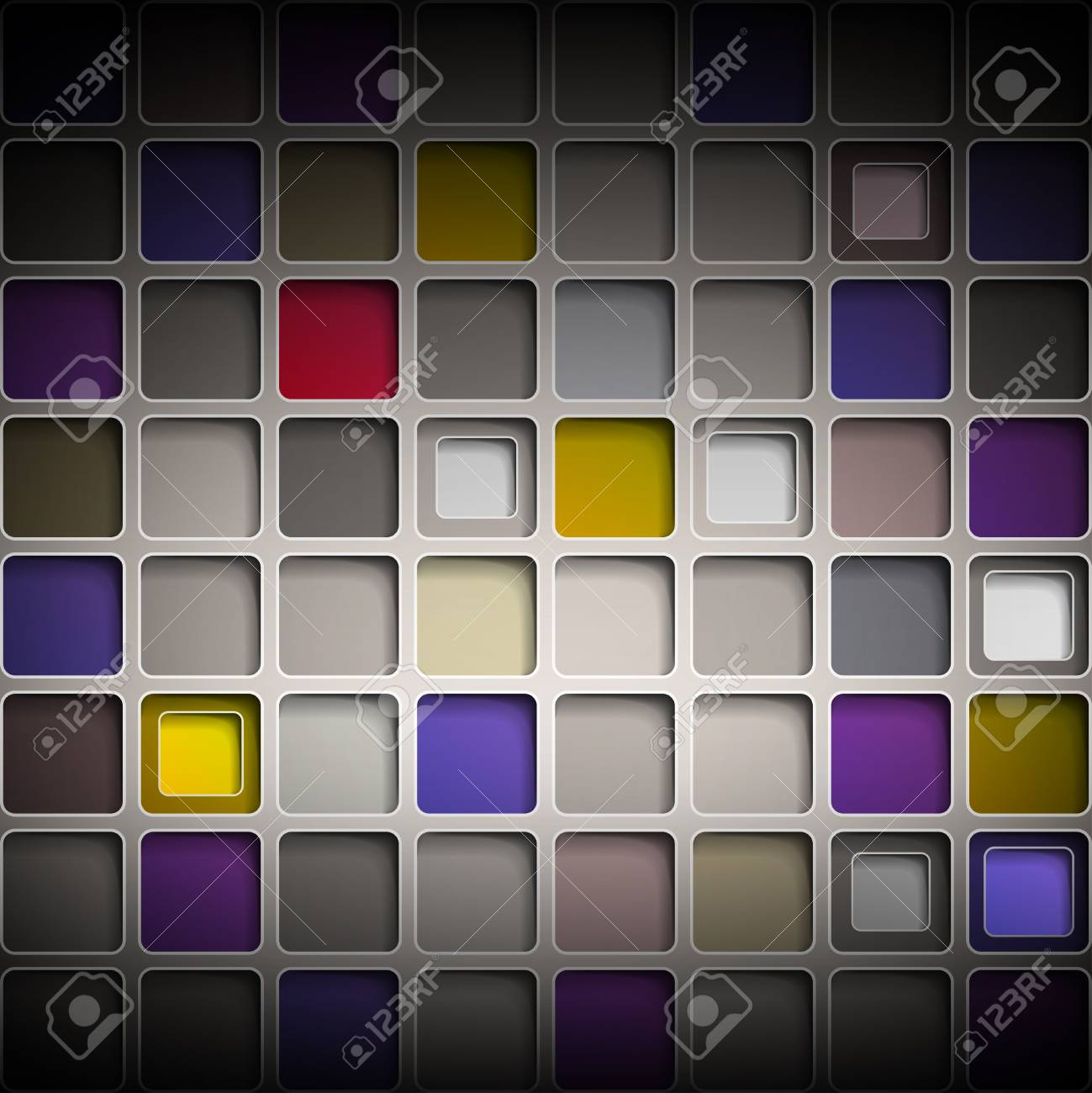 Background with colorful squares Stock Vector - 13520890