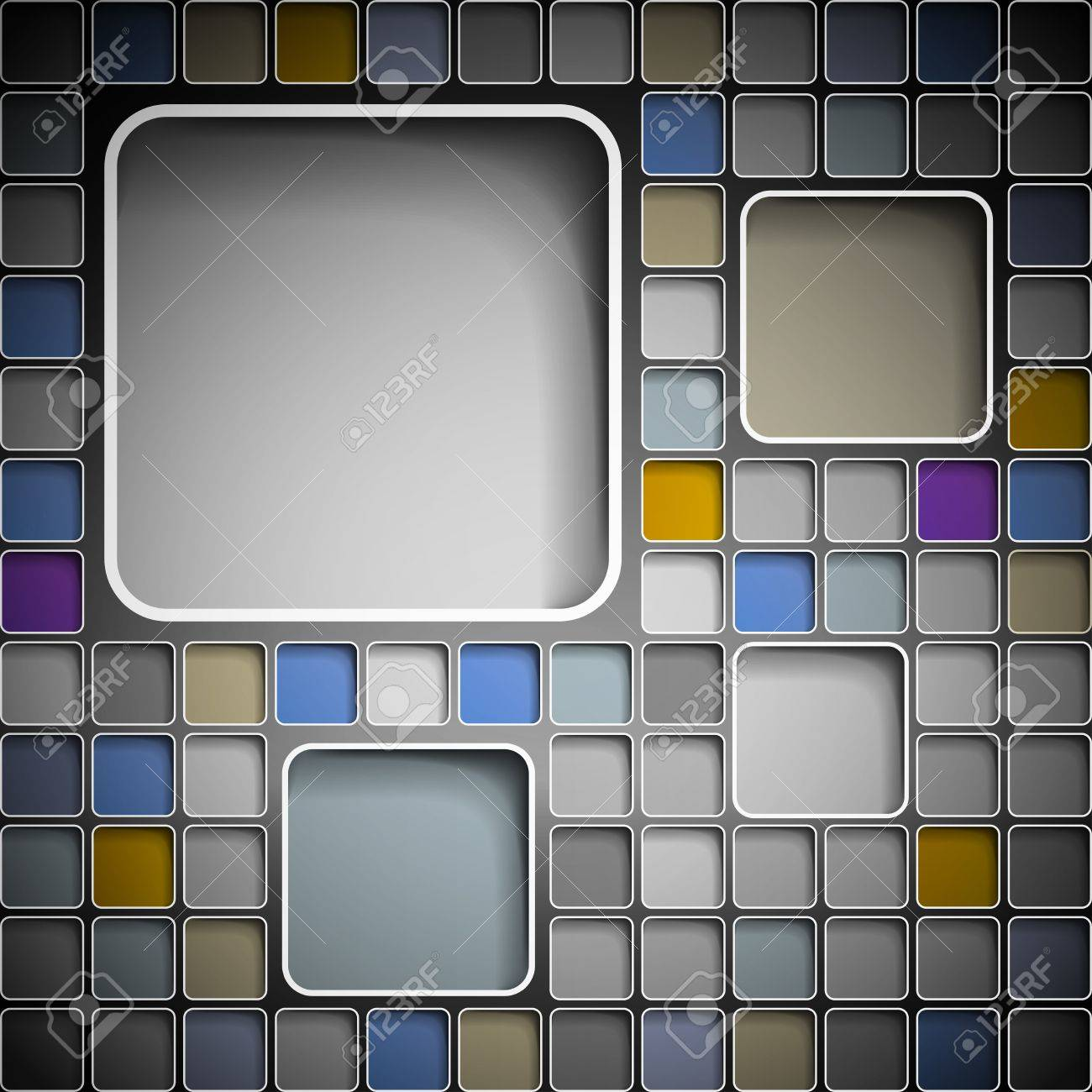Background with colorful squares for text Stock Photo - 13520889