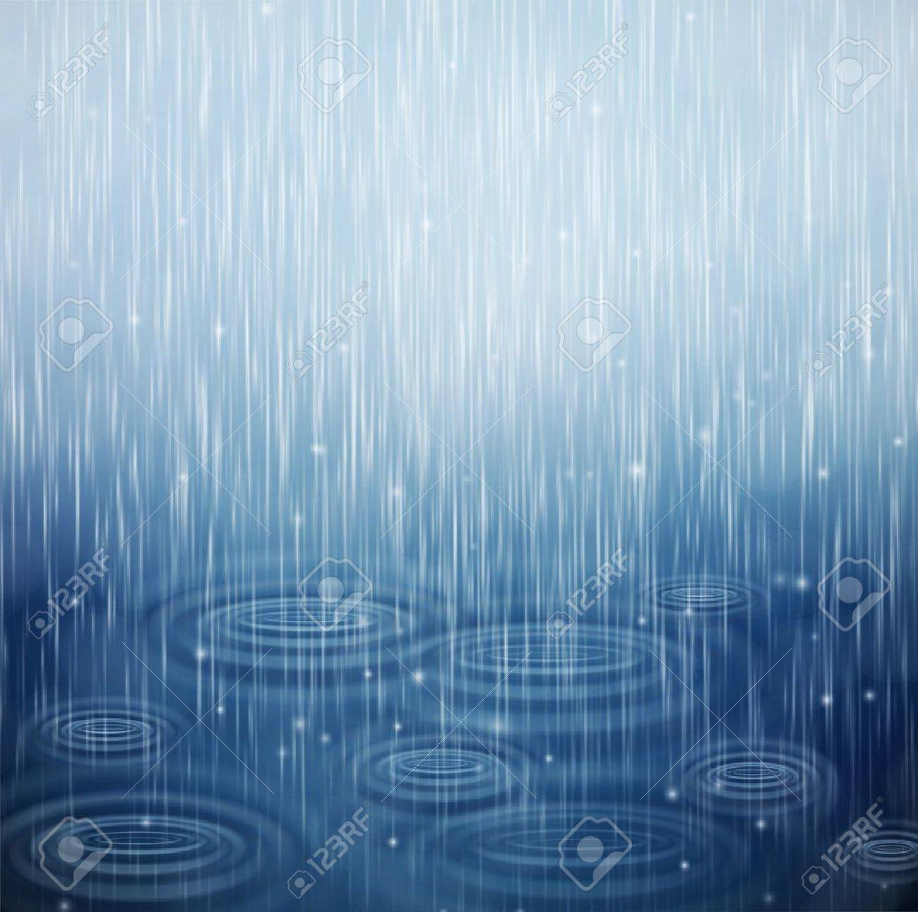 Background with rain and waves on the drops Stock Vector - 14296128