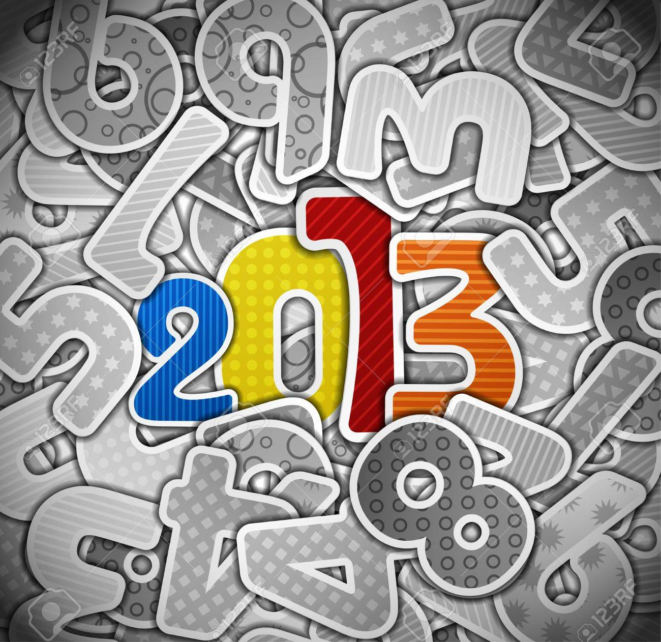 2013 year from a paper Stock Vector - 14770064