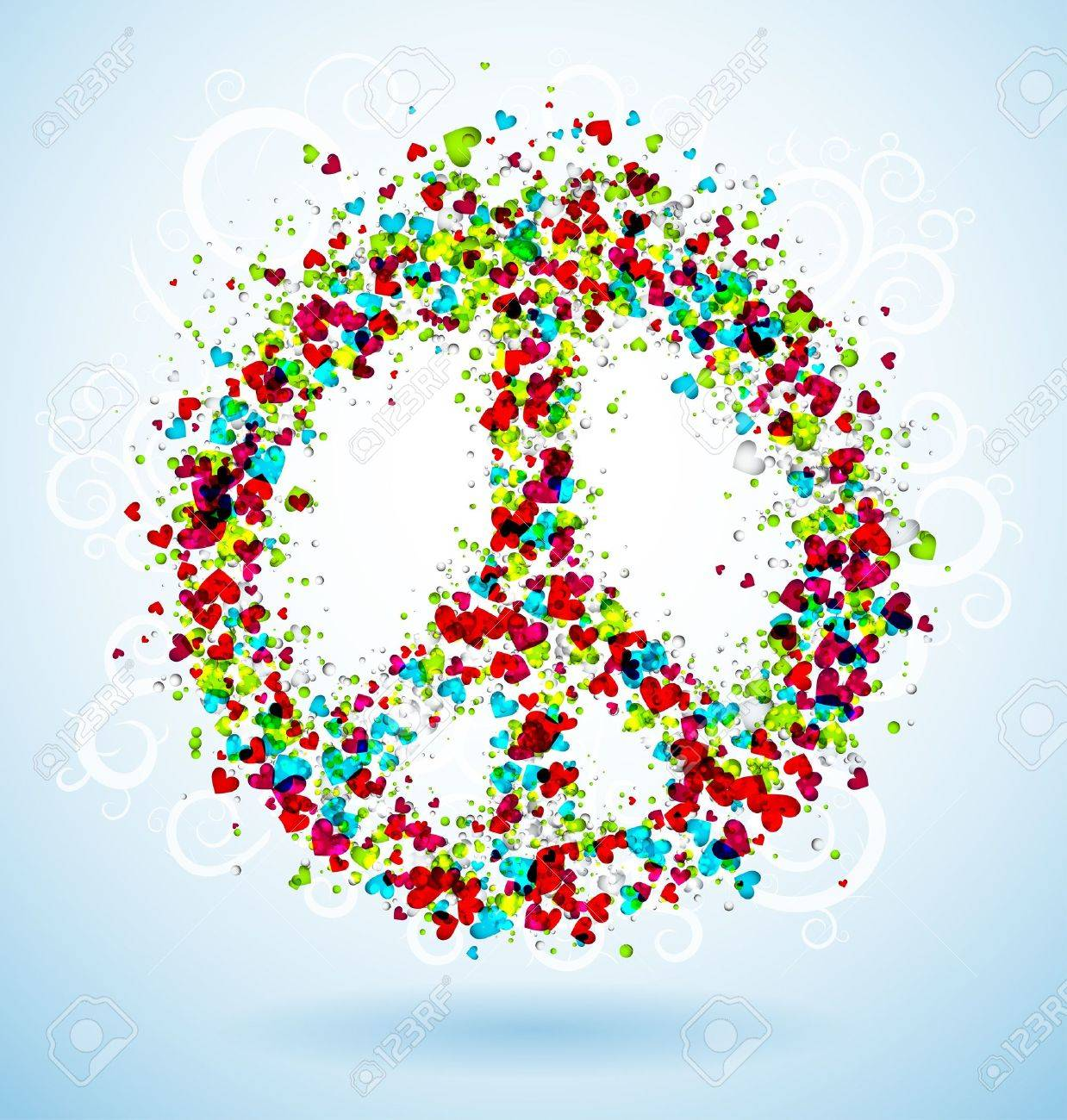 Abstract peace sign Stock Vector - 15284214