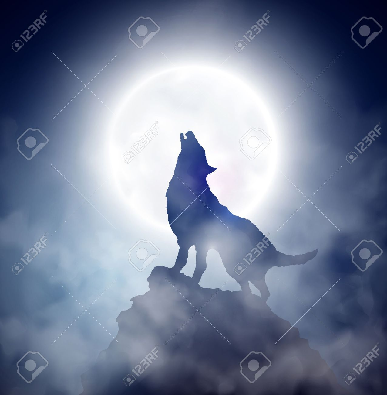 Howling: Wolf Howling At The Moon Illustration Howtodraw Wolves Part 4 By  ~dogwolf129 On