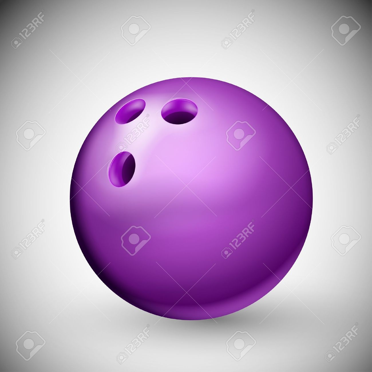 Isolated purple bowling ball Stock Vector - 15803072