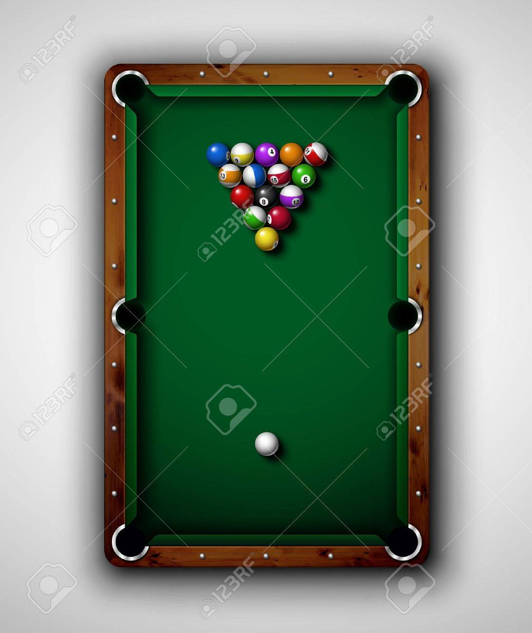 billiard table isolated billiard table top view eps 10
