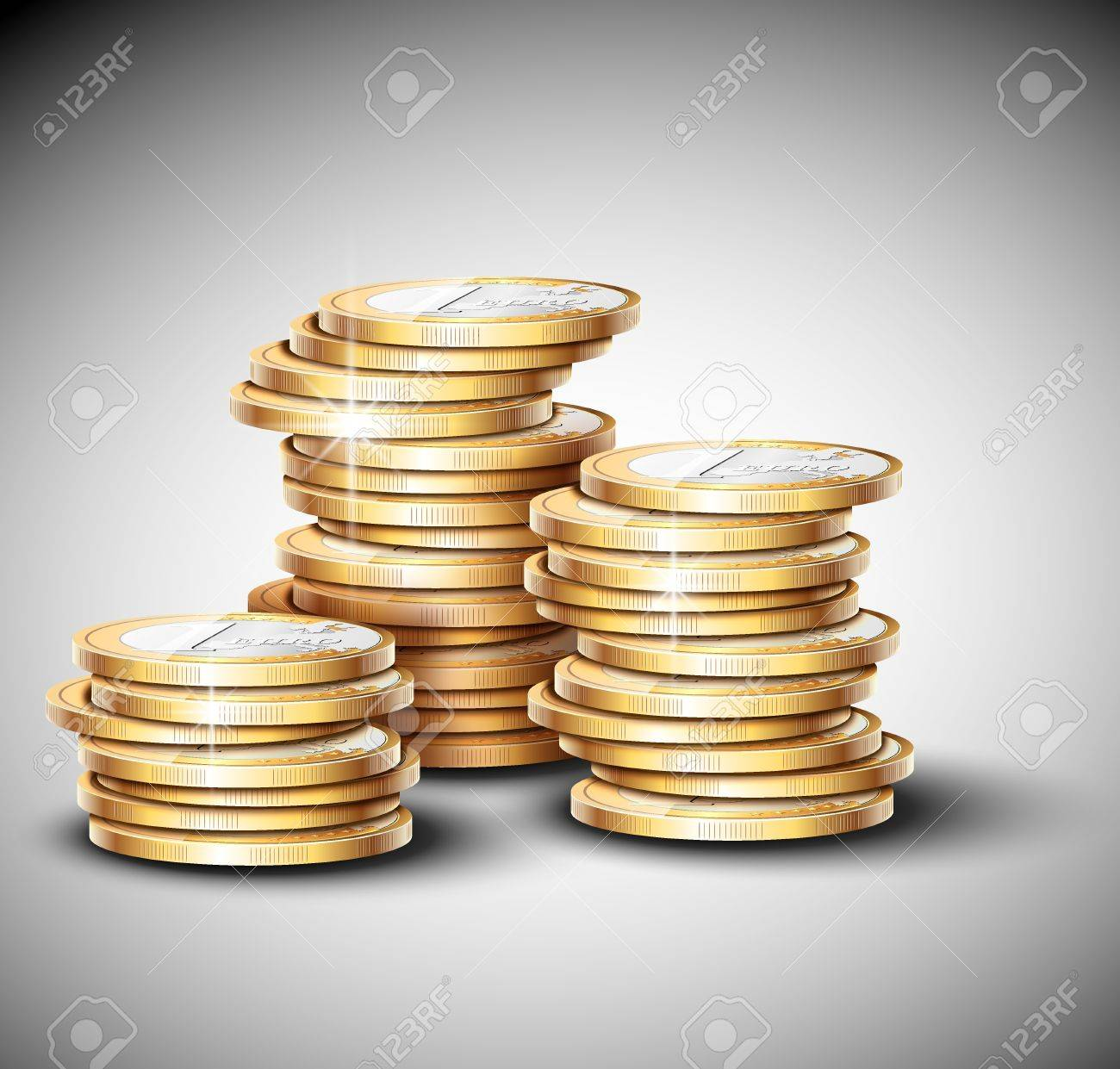 Stacks of coins  Eps 10 Stock Vector - 17609955