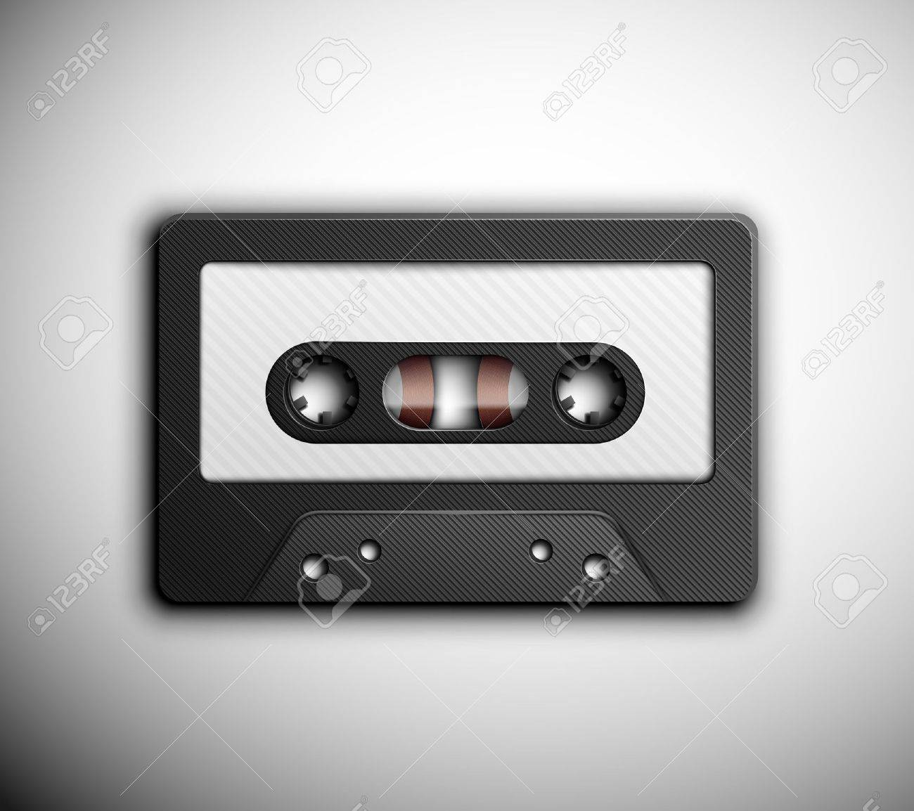 Isolated audio tape Stock Vector - 18672148
