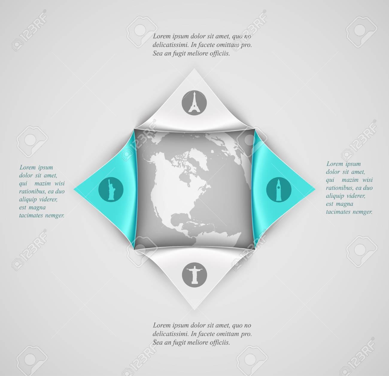 Banner-Vorlage, Reise Infografik. Illustration Transparenz Enthält ...