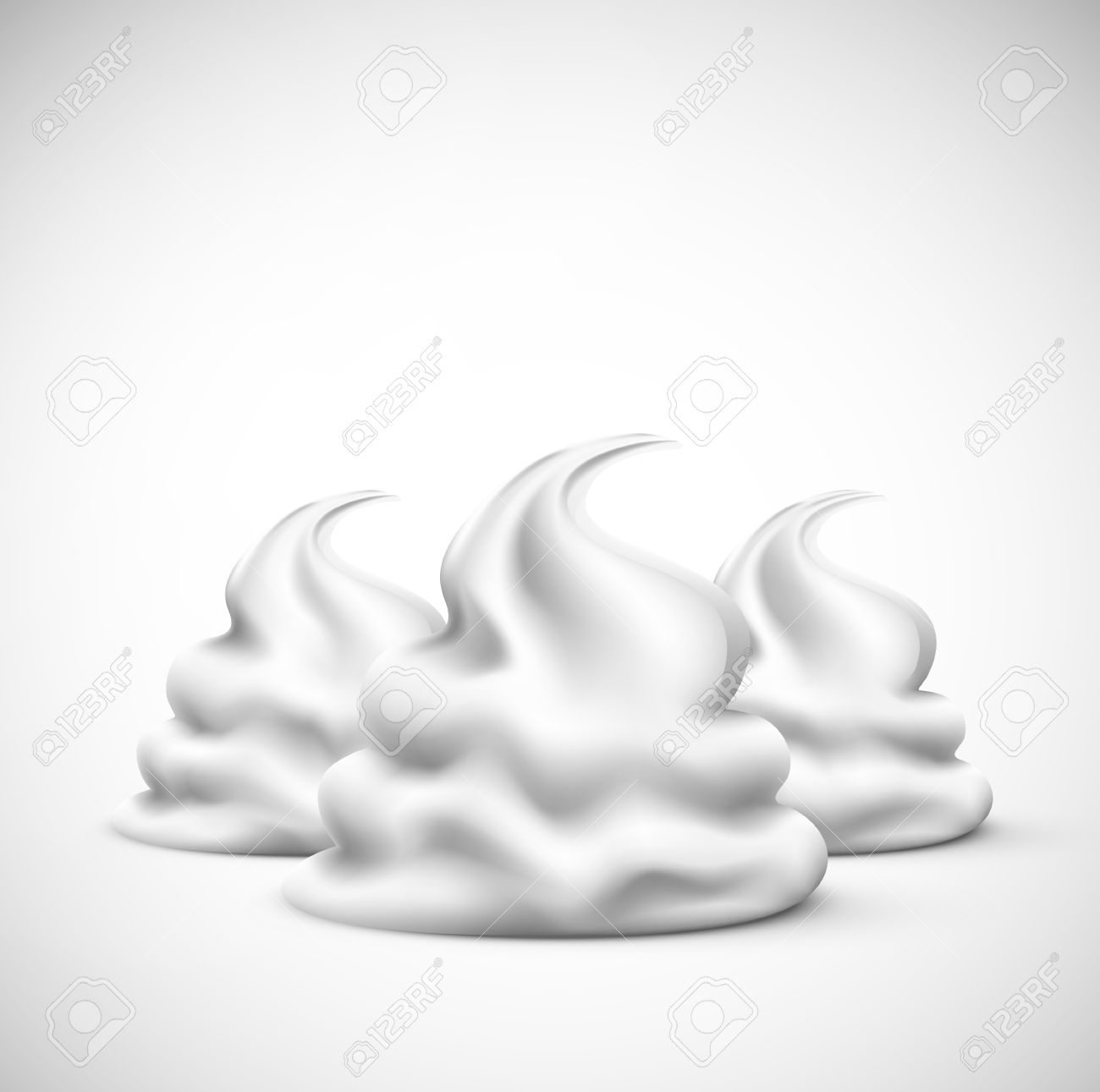 Isolated whipped cream, eps 10 Stock Vector - 21574872