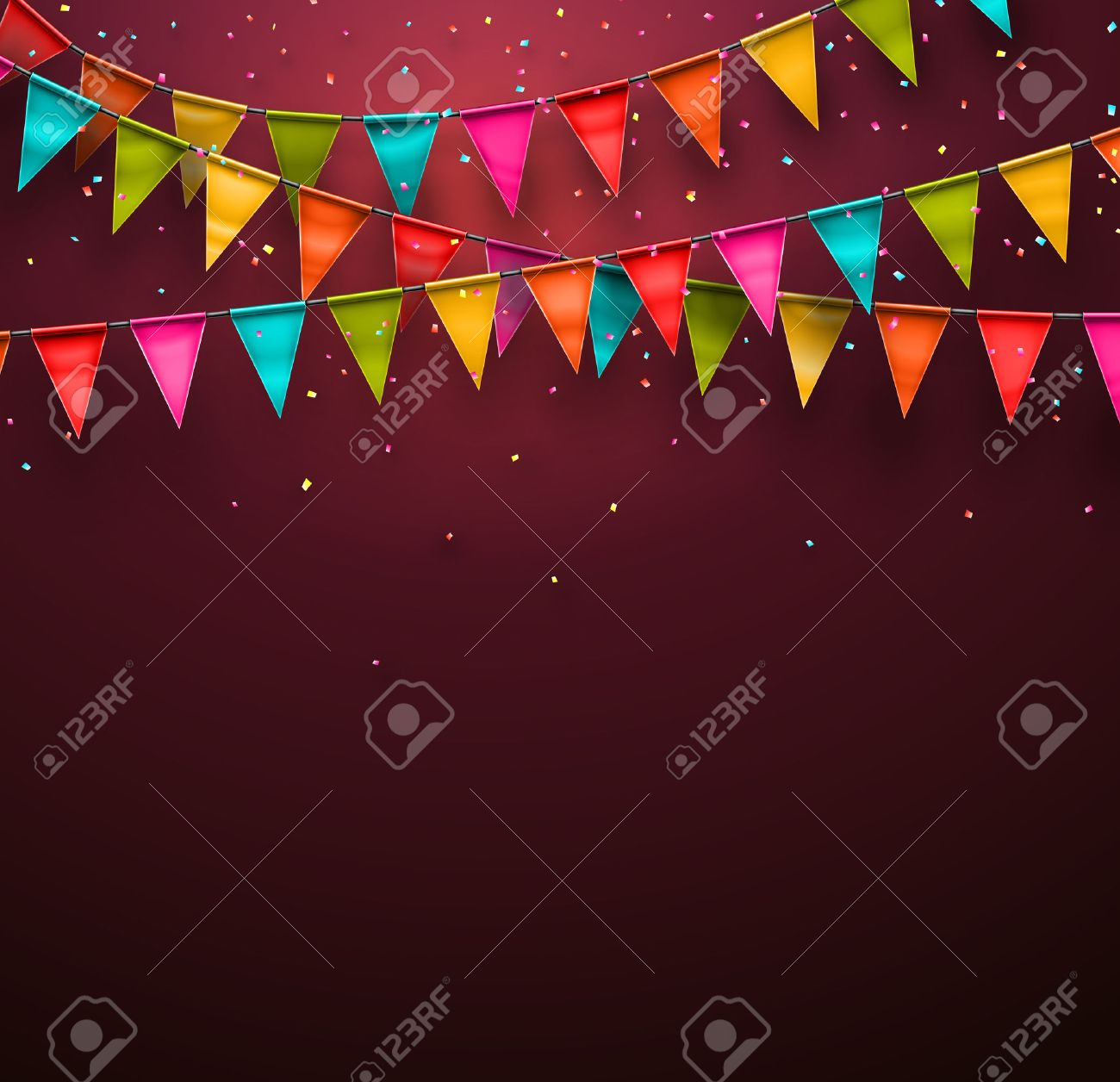 Festive background with flags Stock Vector - 27704082
