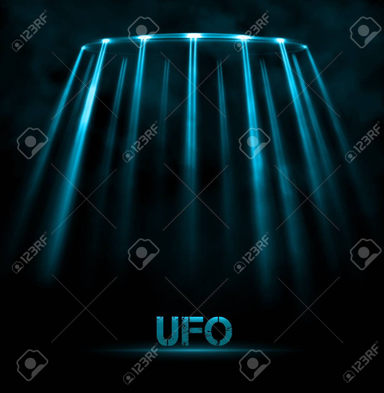 Abstract UFO background Stock Vector - 27704117