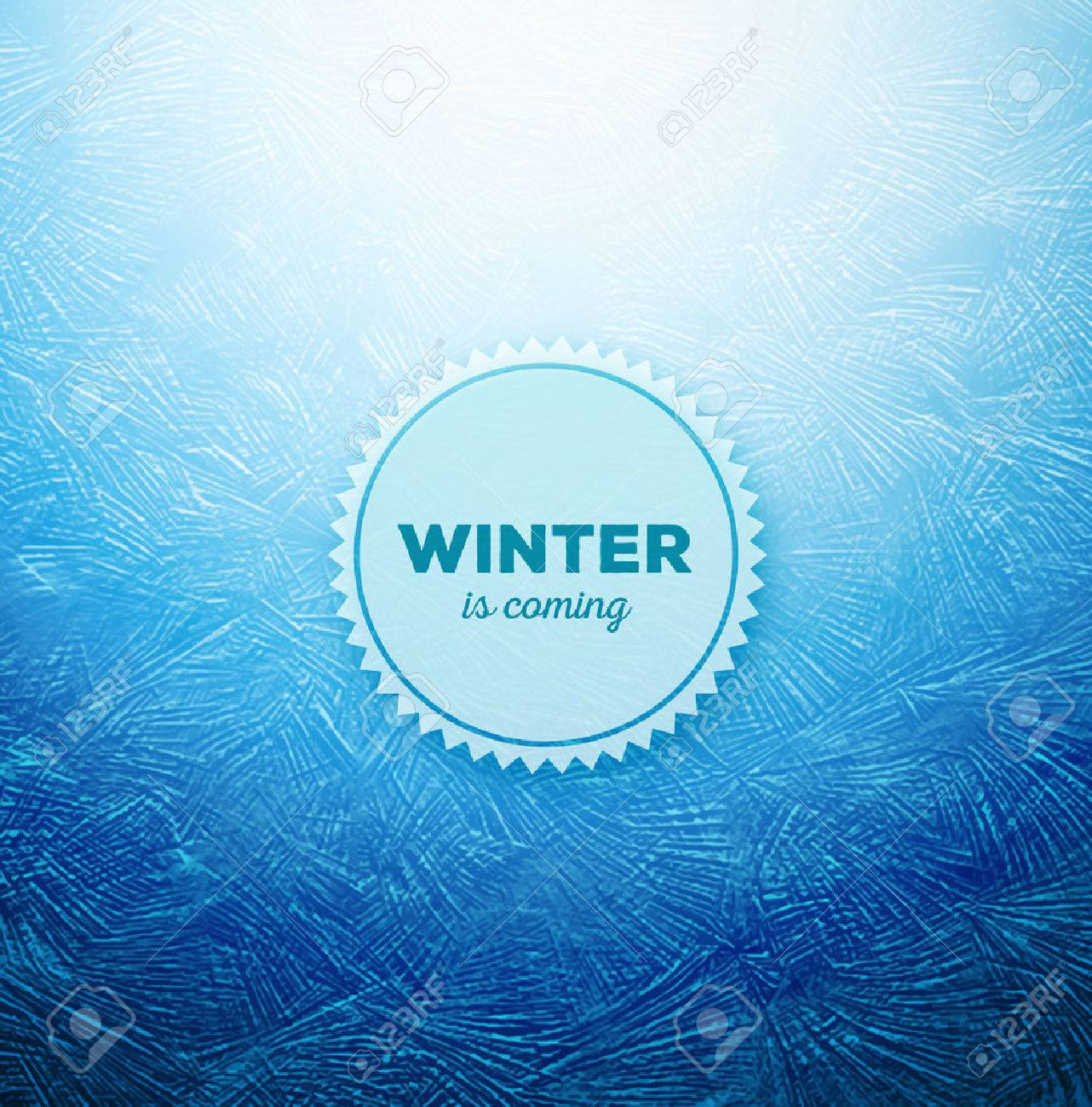 Ice background, winter is coming, eps 10 Stock Vector - 33033694