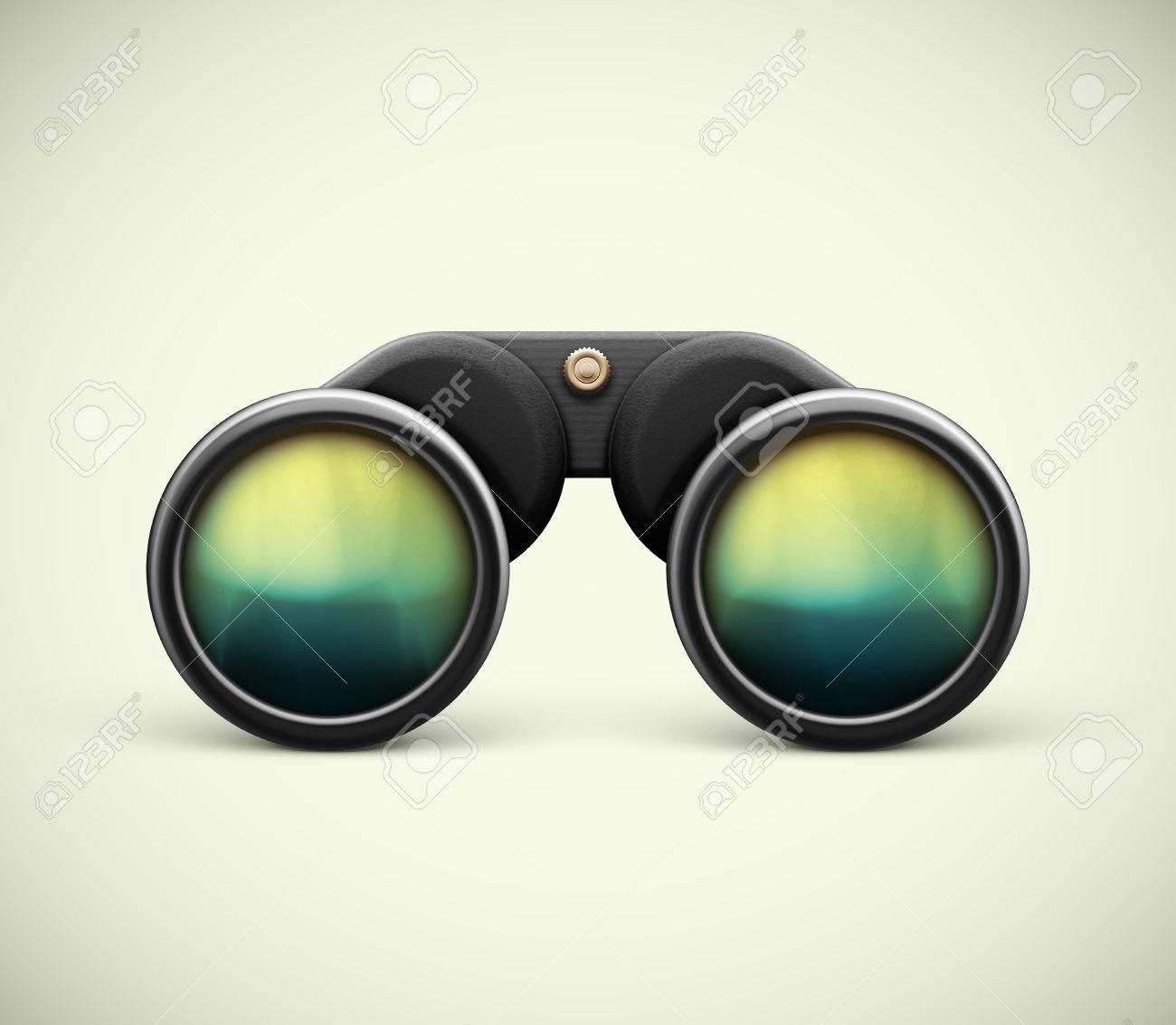 Isolated black binoculars, eps 10 - 33641379