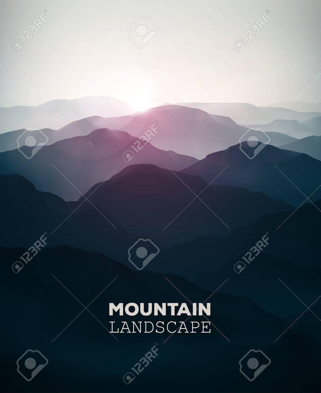 Mountain background, landscape Standard-Bild - 36482470