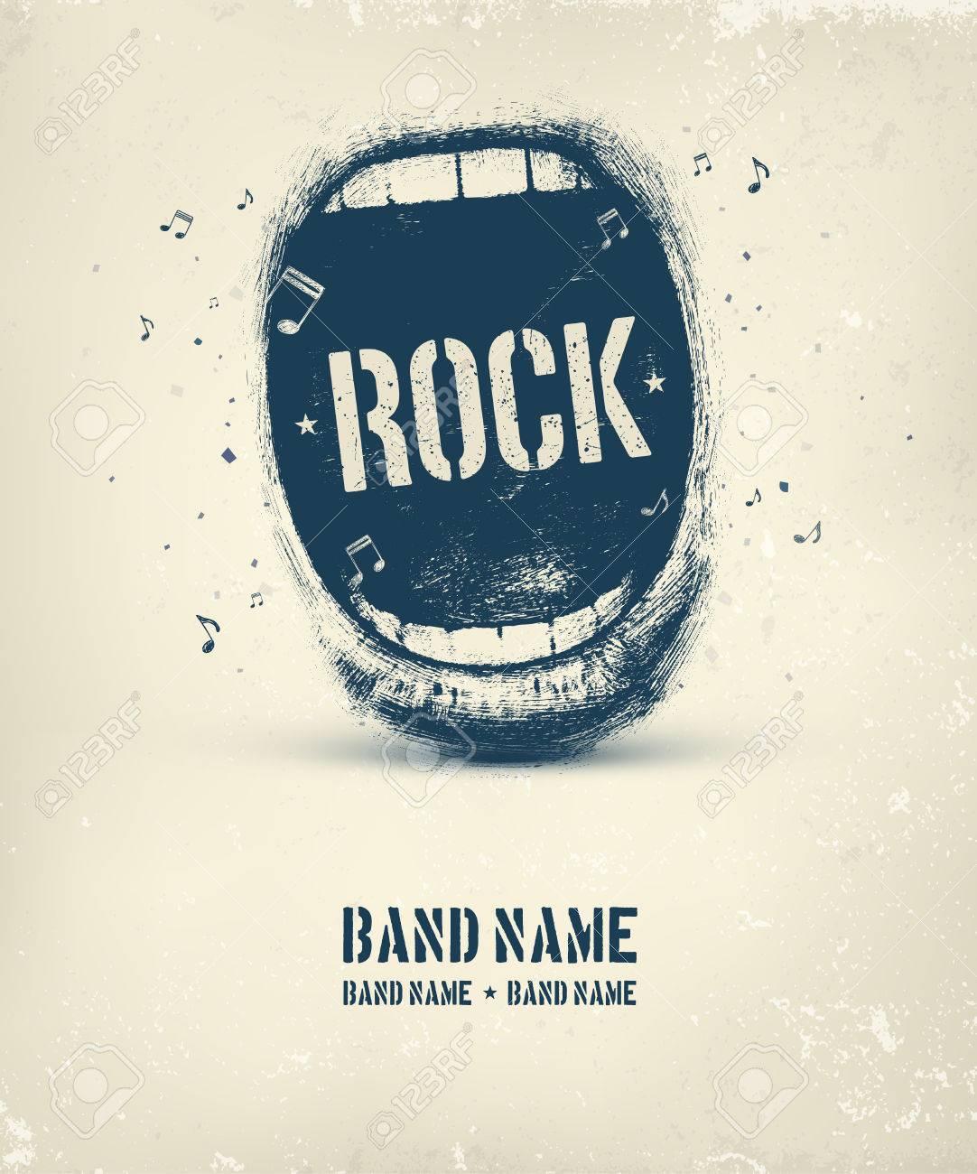 Rock music poster, eps 10 Standard-Bild - 38674656