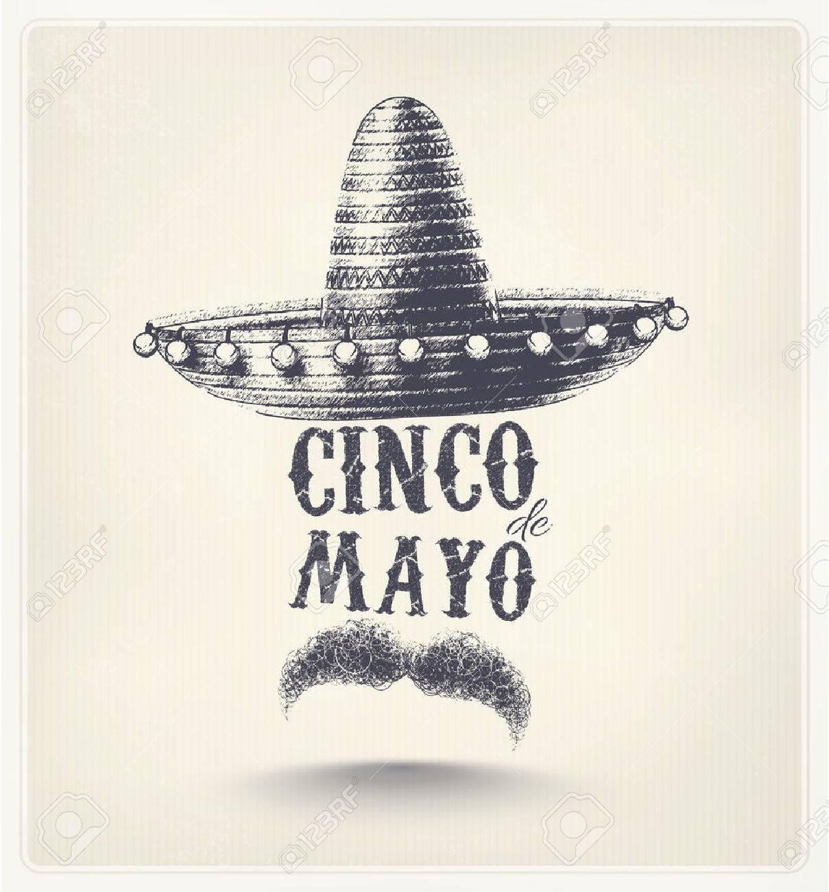 Cinco De Mayo, holiday poster Standard-Bild - 39180822