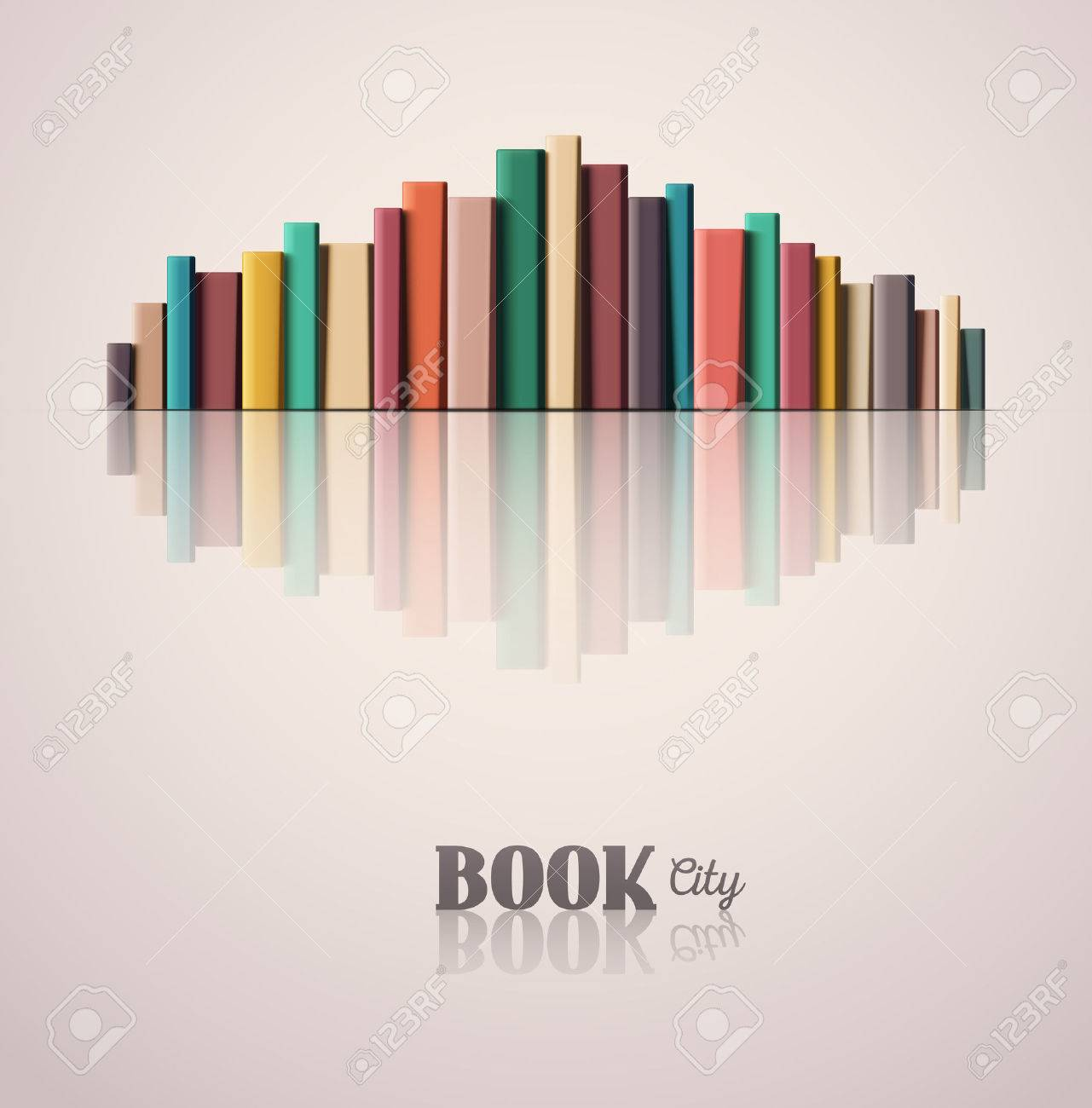 Stack of color books, book city, Standard-Bild - 39391520