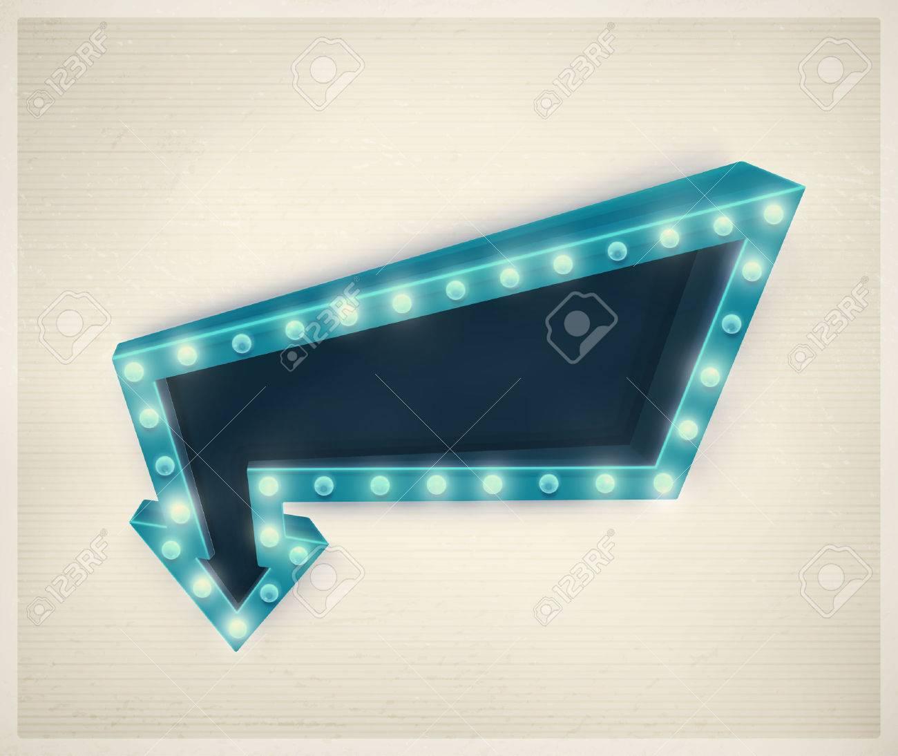 3D retro arrow, vintage banner Standard-Bild - 40880583