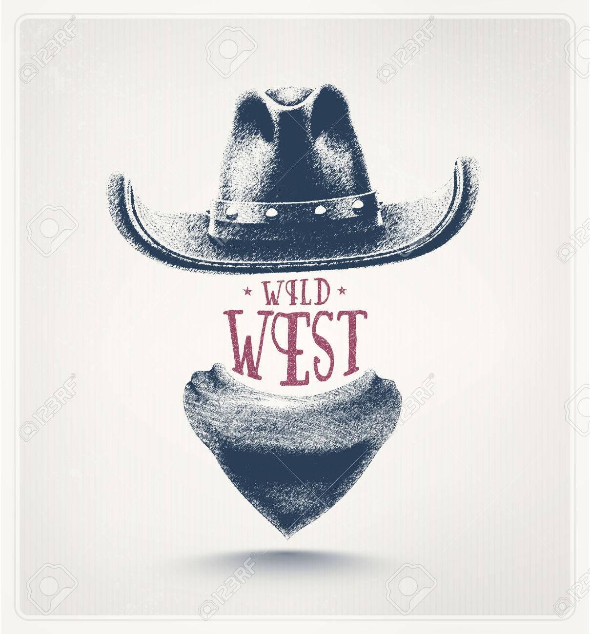 Cowboy hat and scarf, wild west Standard-Bild - 40880641