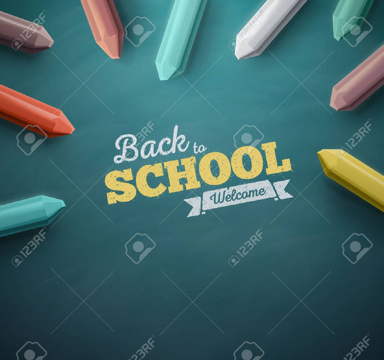 Welcome back to school, eps 10 Standard-Bild - 41579324
