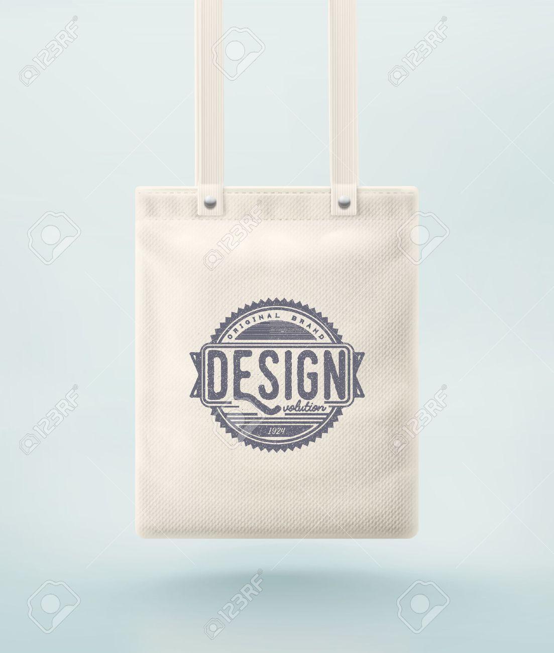 Tote bag for design, Standard-Bild - 41579365