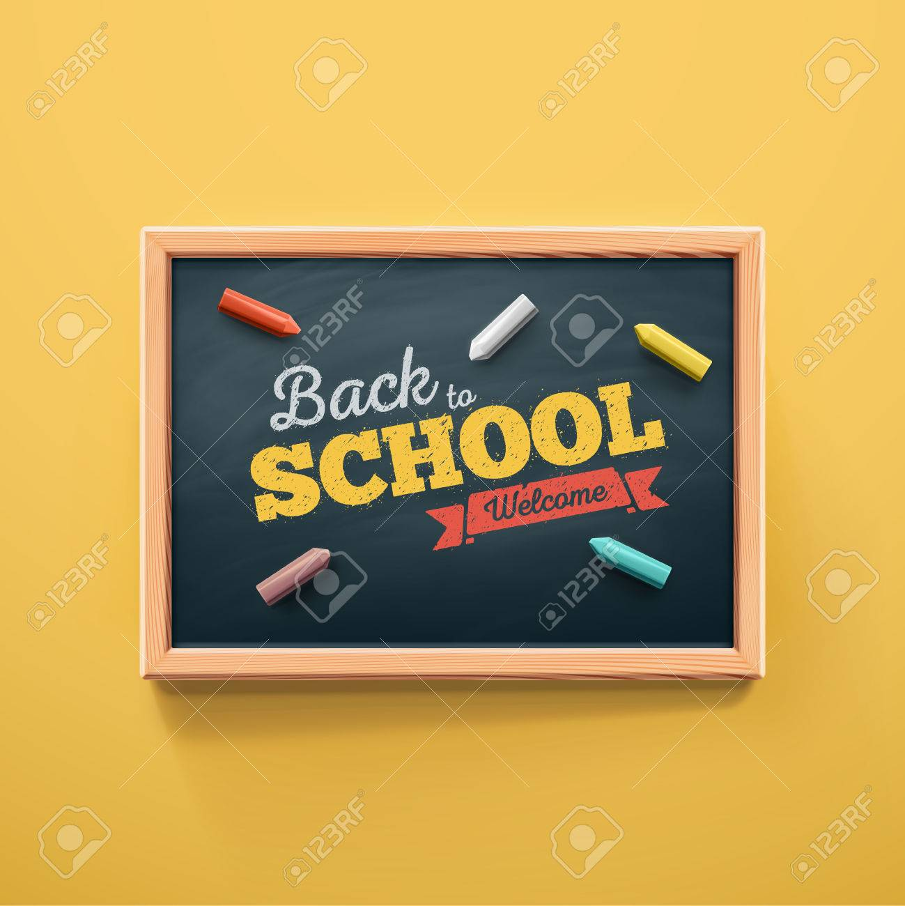 Back to school, eps 10 Standard-Bild - 43327848