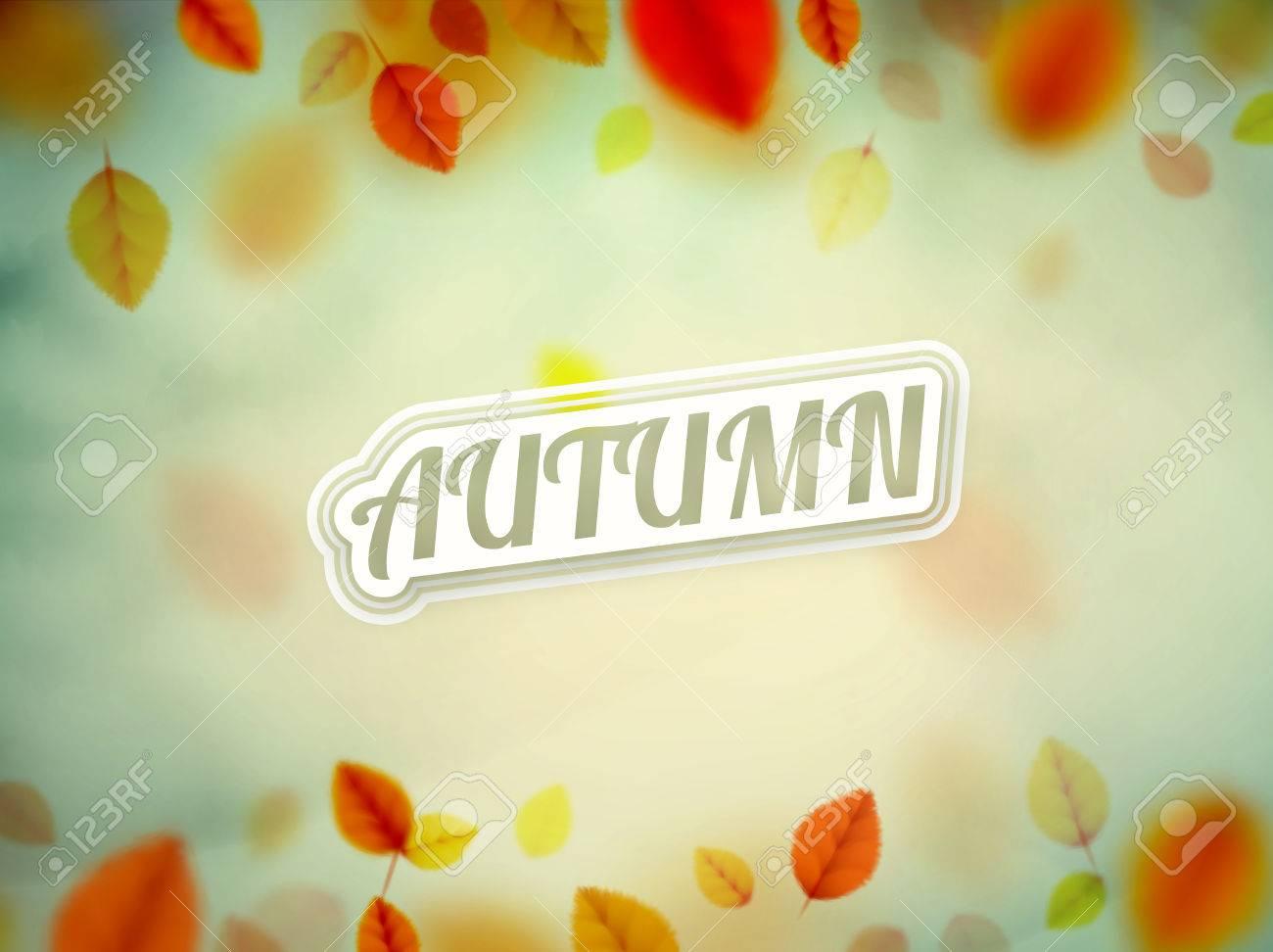 Hello autumn, nature background, eps 10 Standard-Bild - 43327860