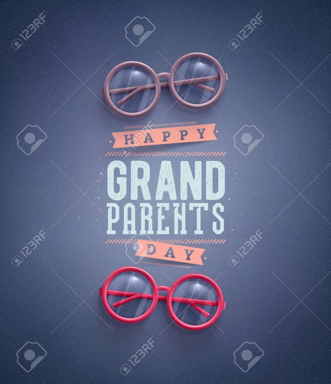 Happy Grandparents Day, greeting card Standard-Bild - 43876944
