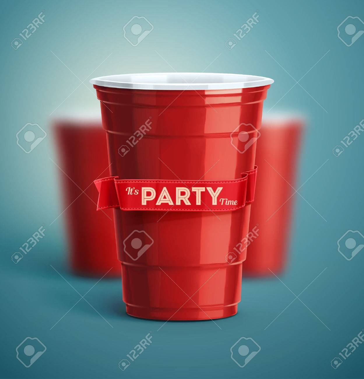 Red cups, it's party time Standard-Bild - 44258842