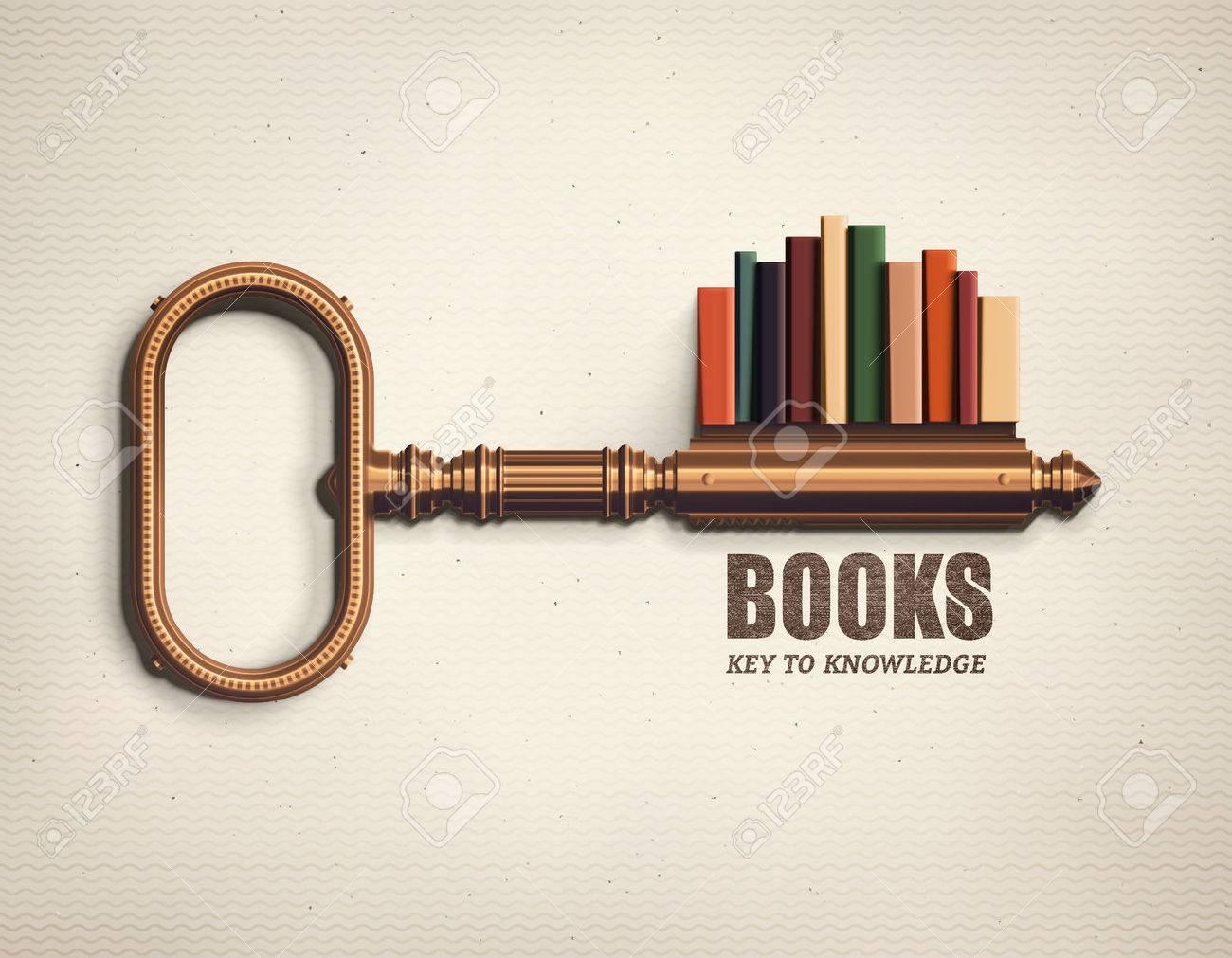 Books, key to knowledge Standard-Bild - 51363666