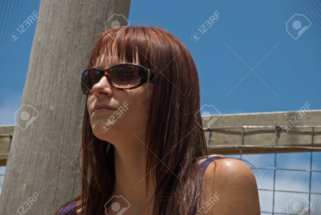 a young woman who is deep in thought Stock Photo - 12323424