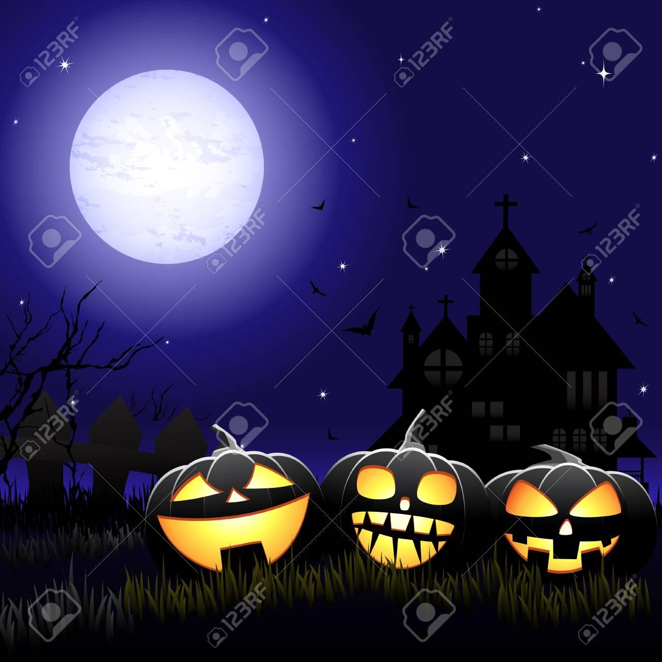 Halloween background Stock Vector - 10927063