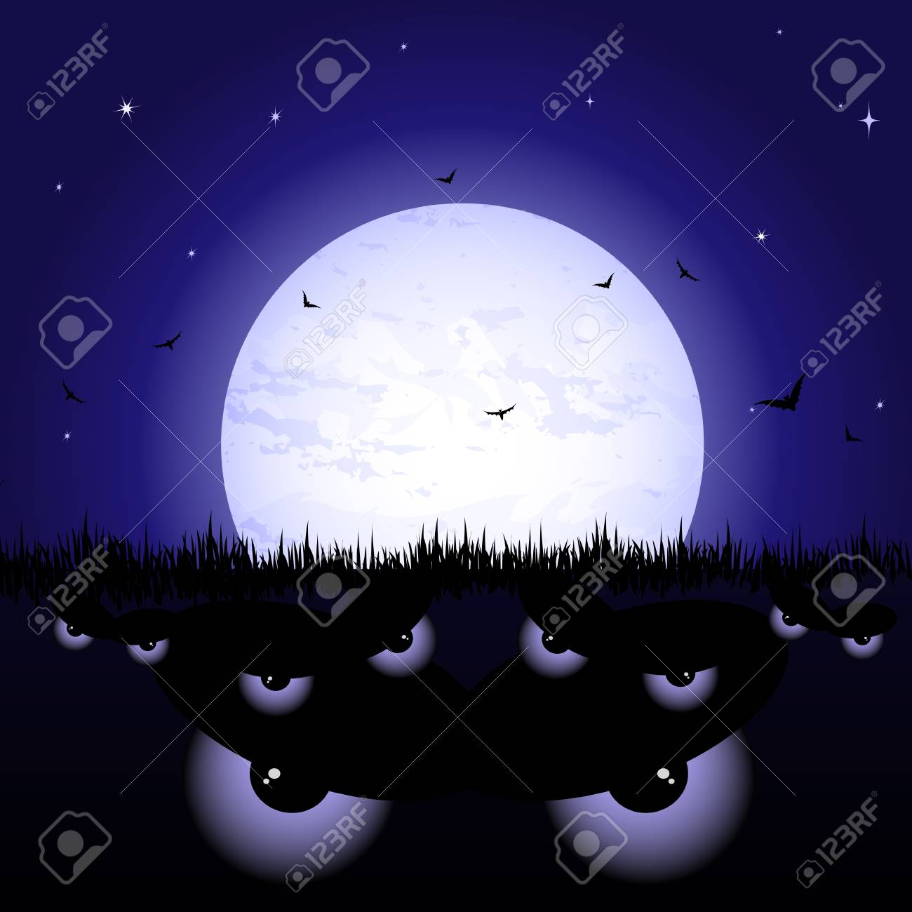 Eyes at night Stock Vector - 10927060